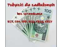 Szybkie pożyczki dla dłużników bez weryfikacji baz BIK, BIG, ERIF
