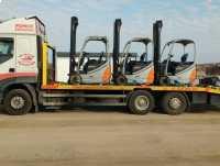 Transport wózków widłowych maszyn koparek Poznań 604 999 084