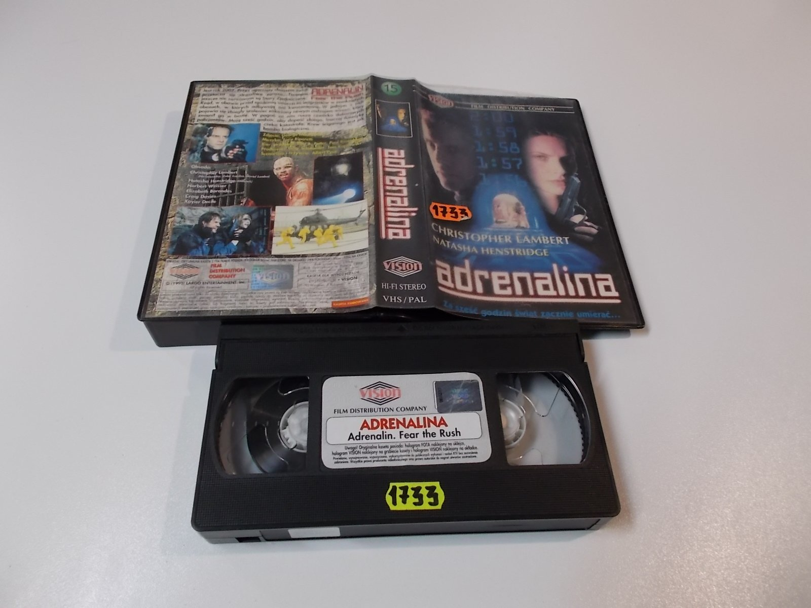ADRENALINA - VHS Kaseta Video - Opole 1654