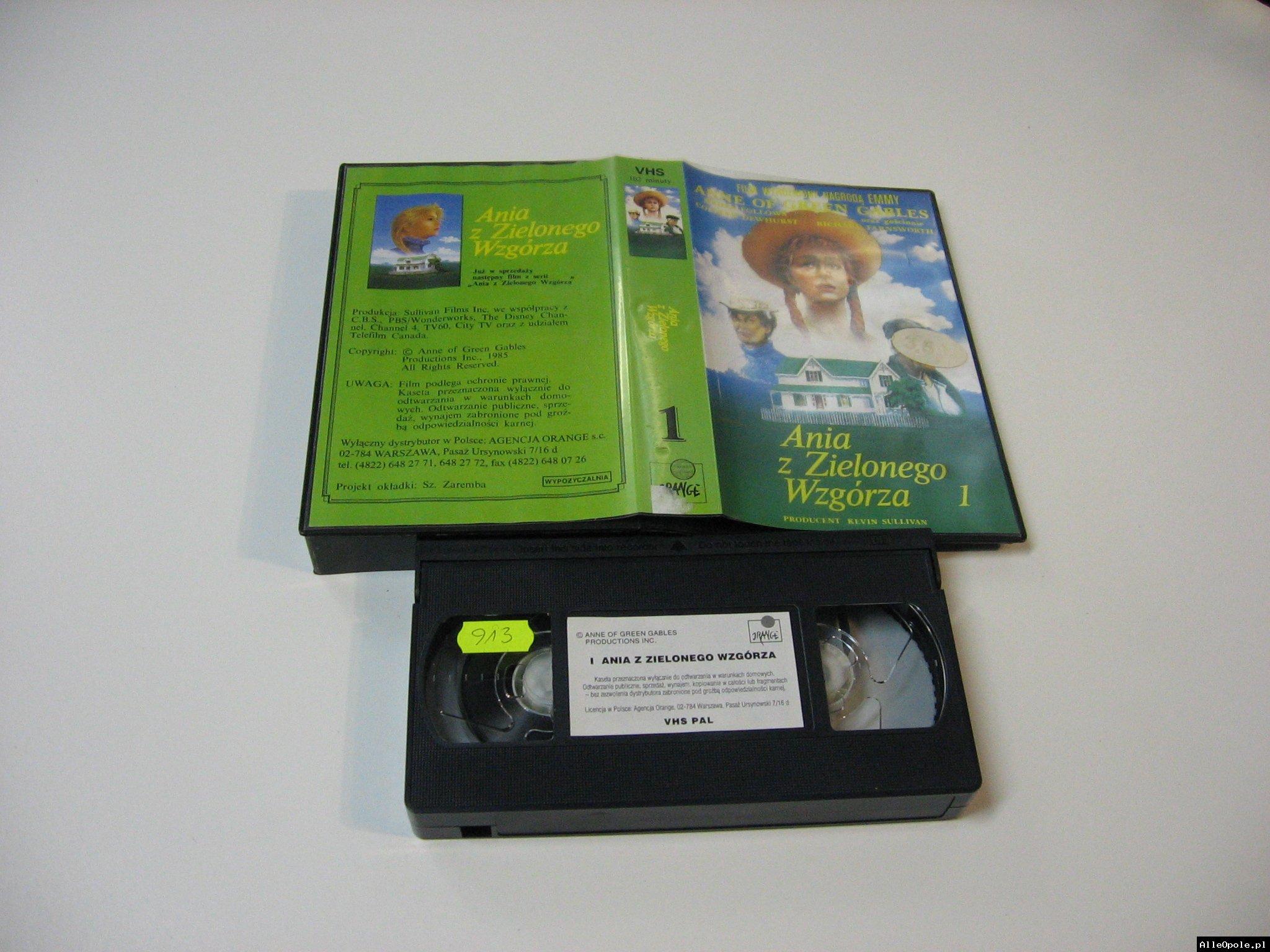 ANIA Z ZIELONEGO WZGÓRZA 1 - VHS Kaseta Video - Opole 1766
