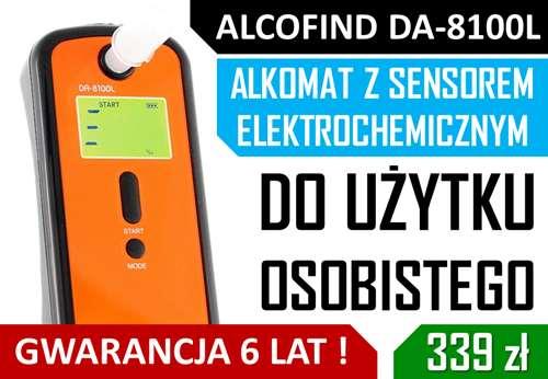 Alkomat Elektrochemiczny do użytku prywatnego AlcoFind DA