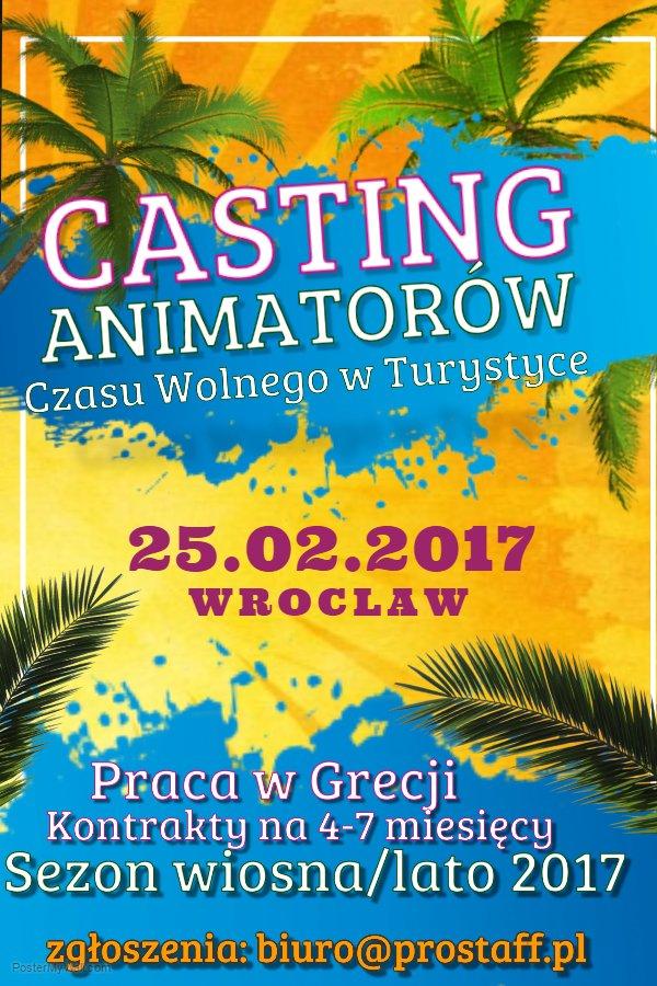 Animator Czasu Wolnego w Grecji - casting