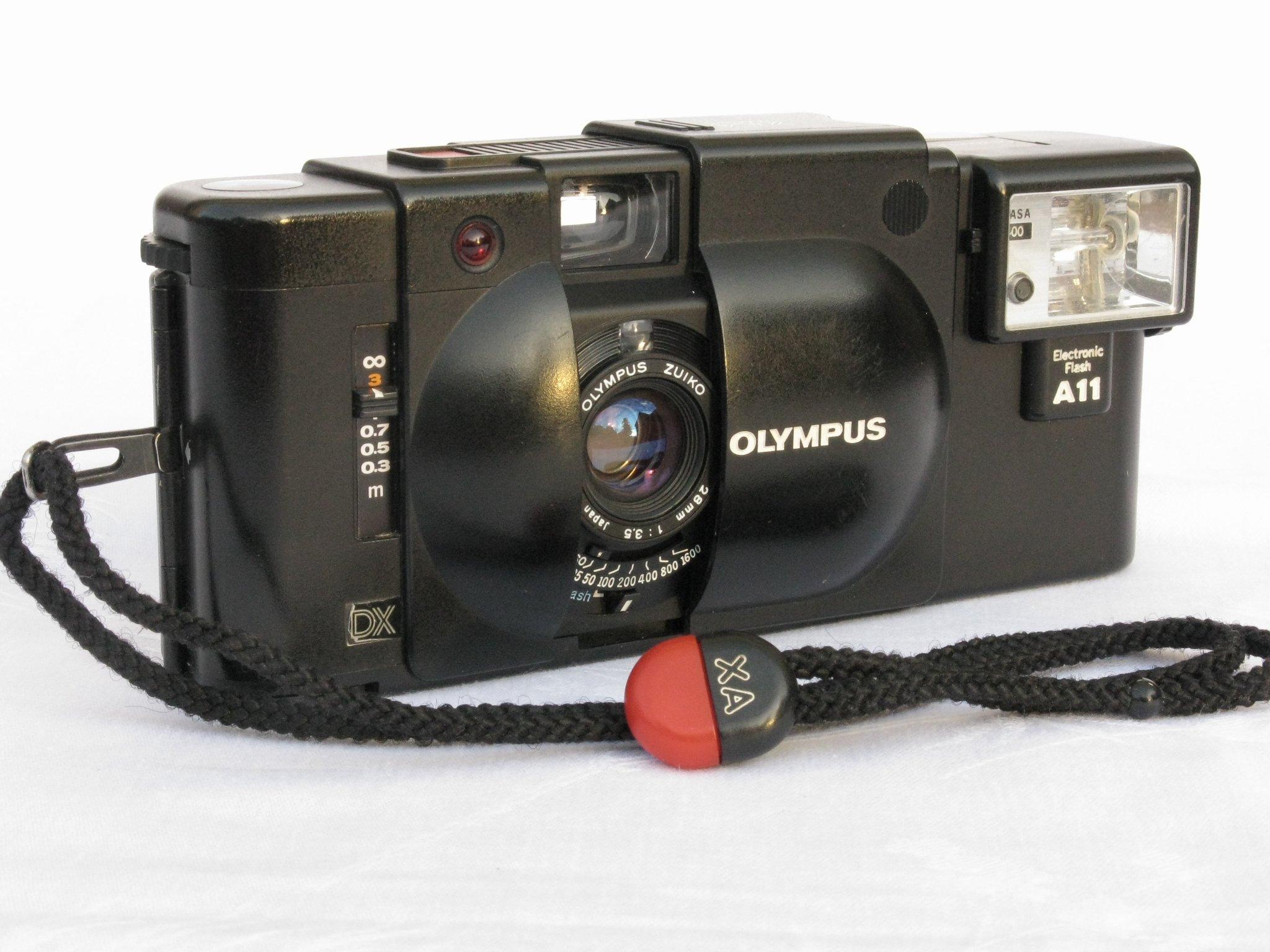 Aparat DALMIERZOWY Olympus XA4 Macro Makro lampa A11