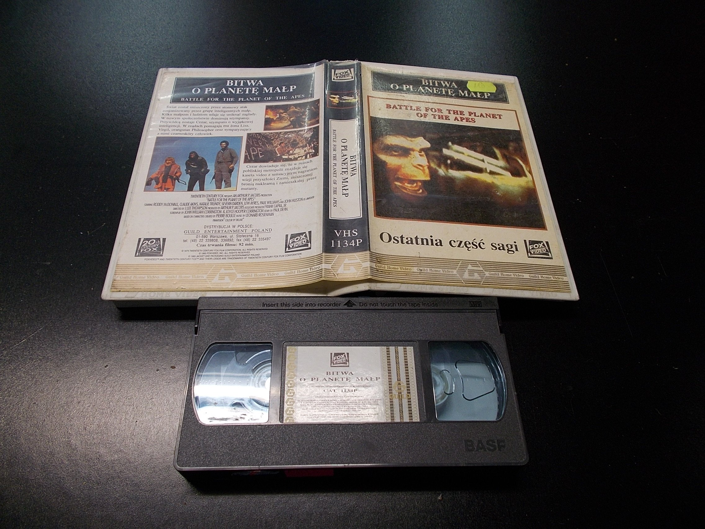 BITWA O PLANETĘ MAŁP  -  kaseta VHS - 1302 Opole - AlleOpole.pl