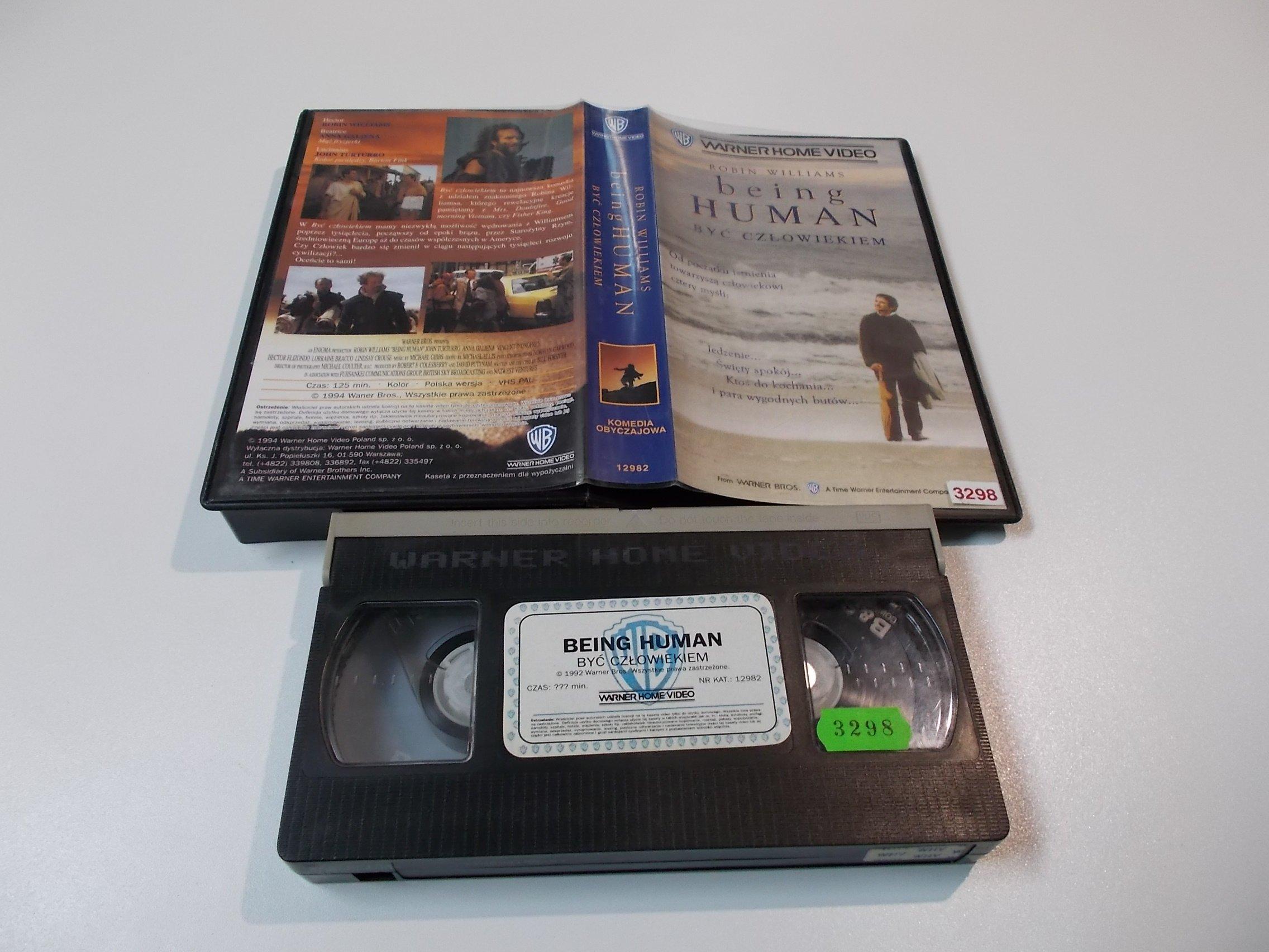 BYĆ CZŁOWIEKIEM - ROBIN WILLIAMS - kaseta Video VHS - 1462 Sklep