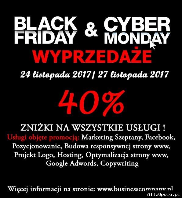 Black Friday&Cyber Monday - 40% zniżki na wszystkie usługi!