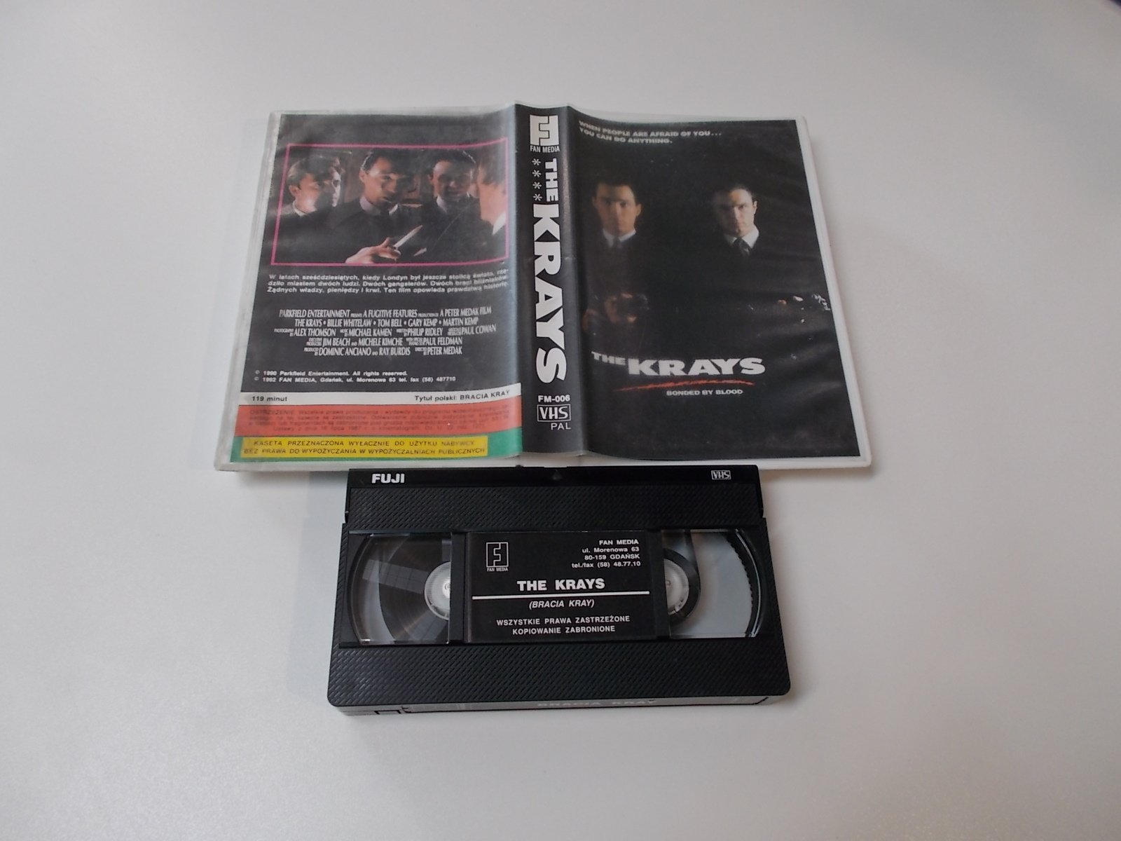 Bracia Kray - The Krays - VHS Kaseta Video - Opole 1662