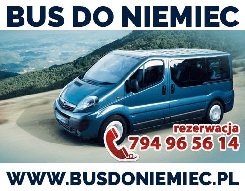 Bus do Niemiec Żory Gliwice Tarnowskie Góry Racibórz Zabrze POD WSKAZANY ADRES