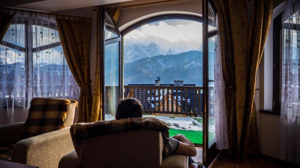 Butorówka - tani pokój w Zakopanem z widokiem na Tatry