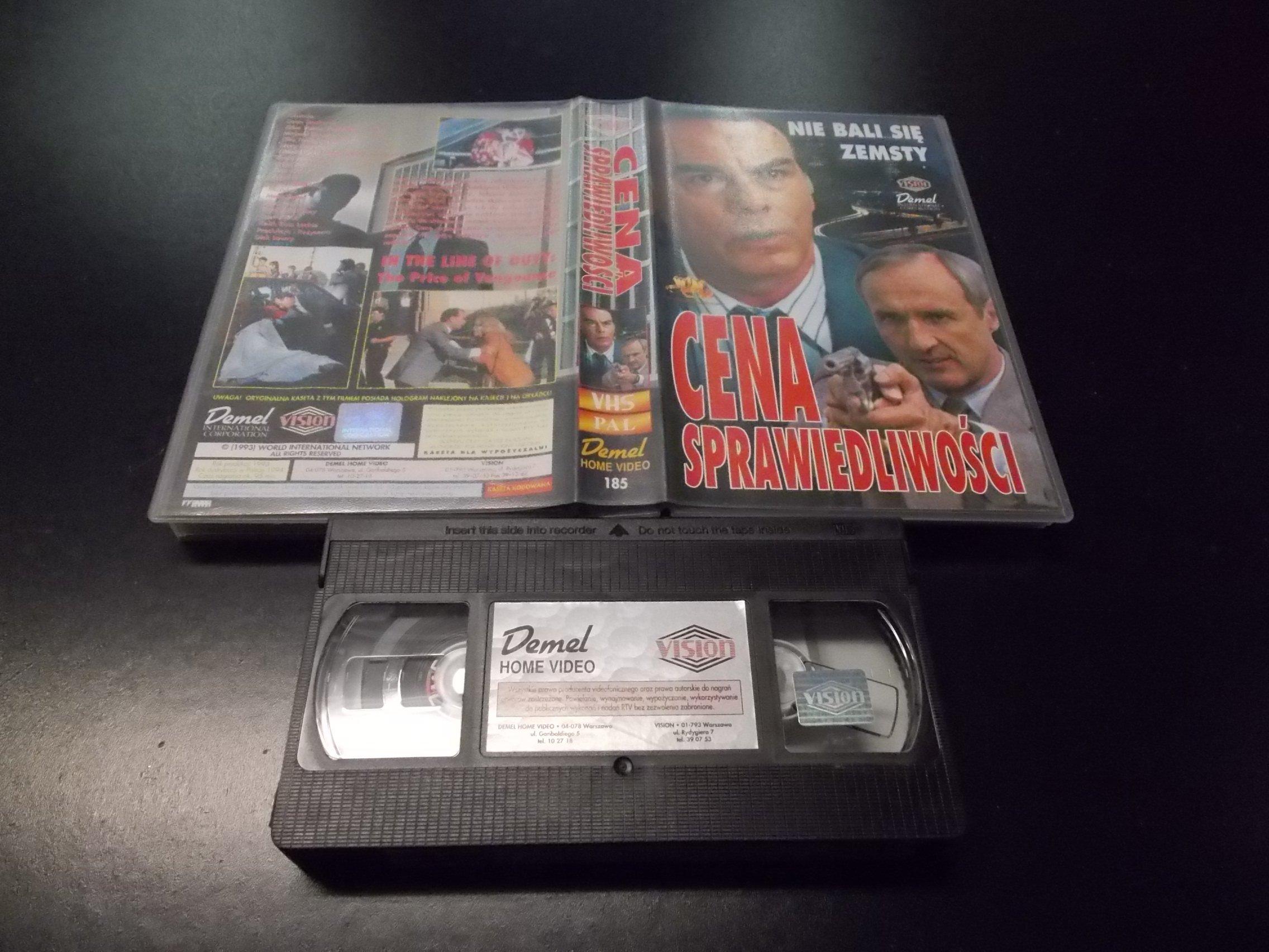 CENA SPRAWIEDLIWOŚCI -  kaseta VHS - 1221 Opole - AlleOpole.pl