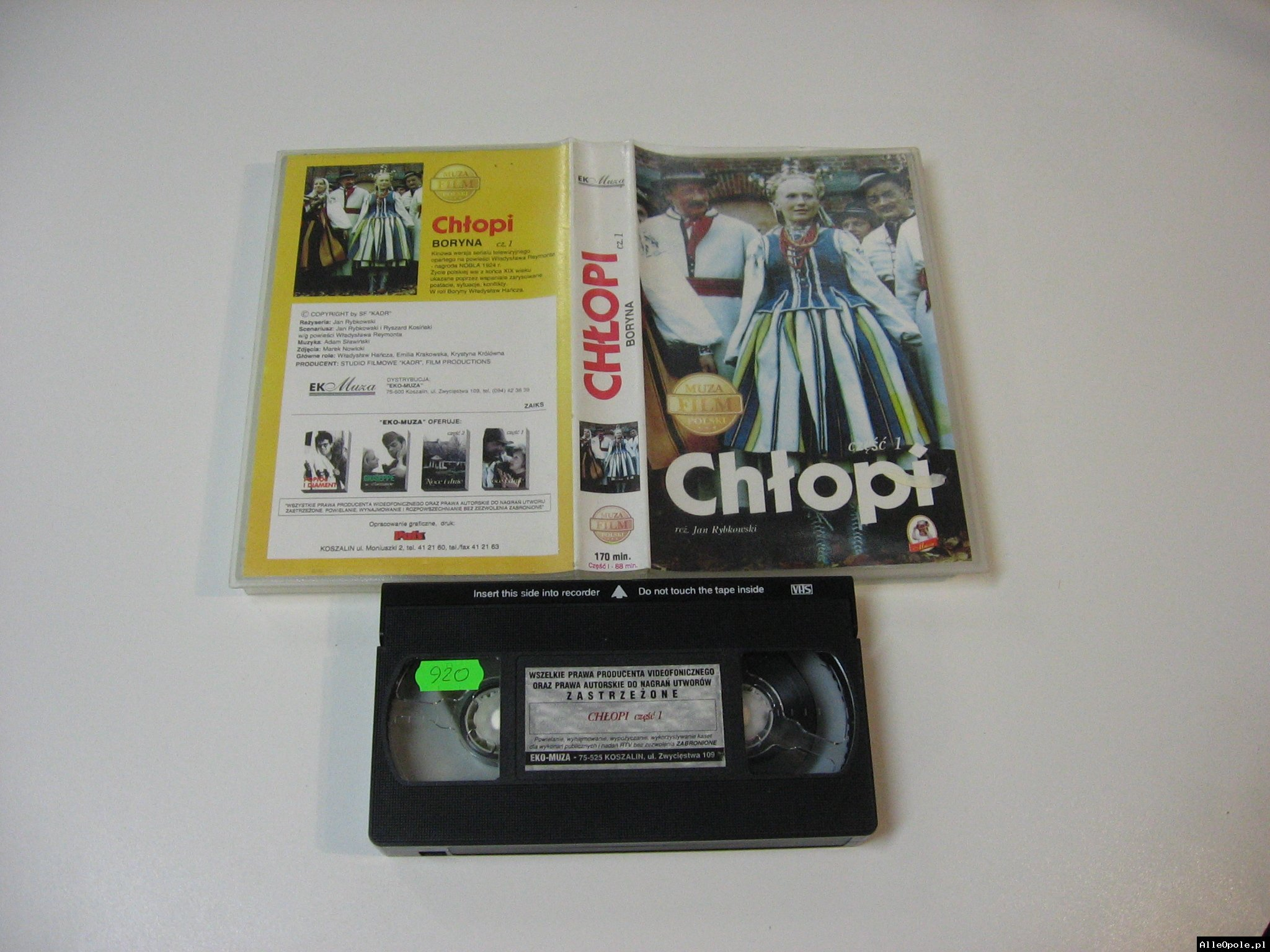 CHŁOPI 1 - VHS Kaseta Video - Opole 1780