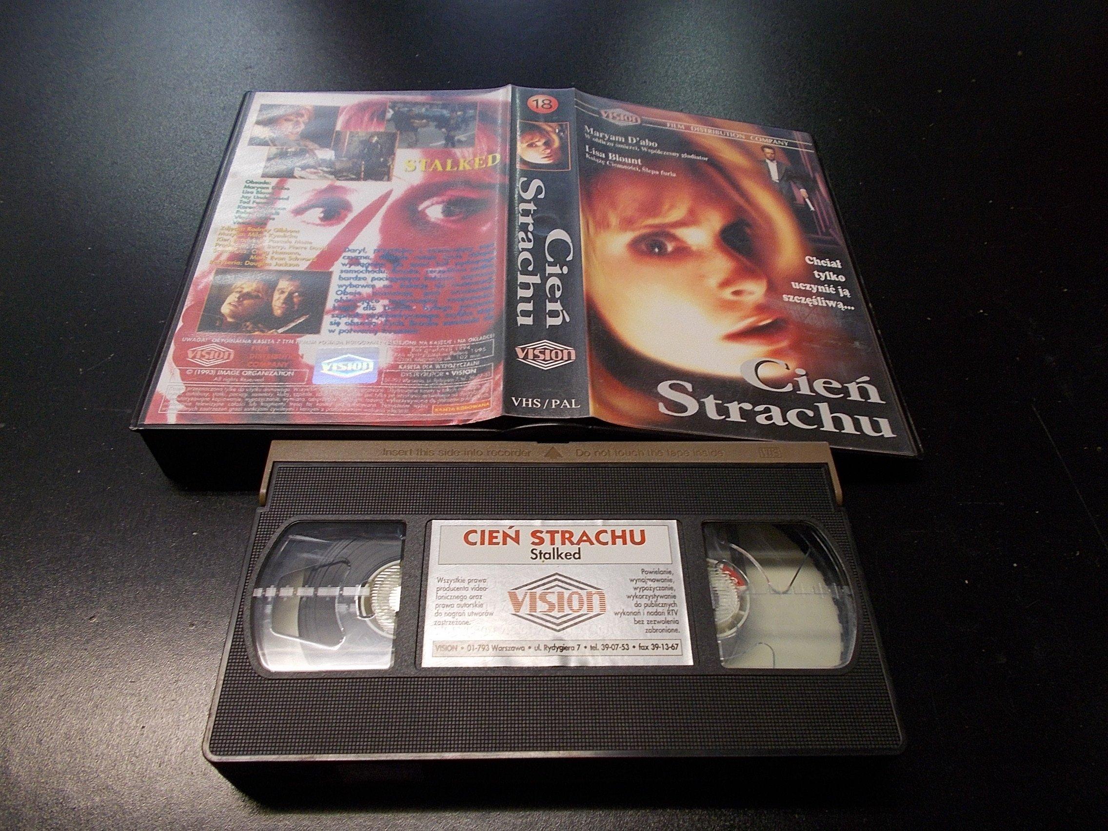 CIEŃ STRACHU -  kaseta VHS - 1279 Opole - AlleOpole.pl