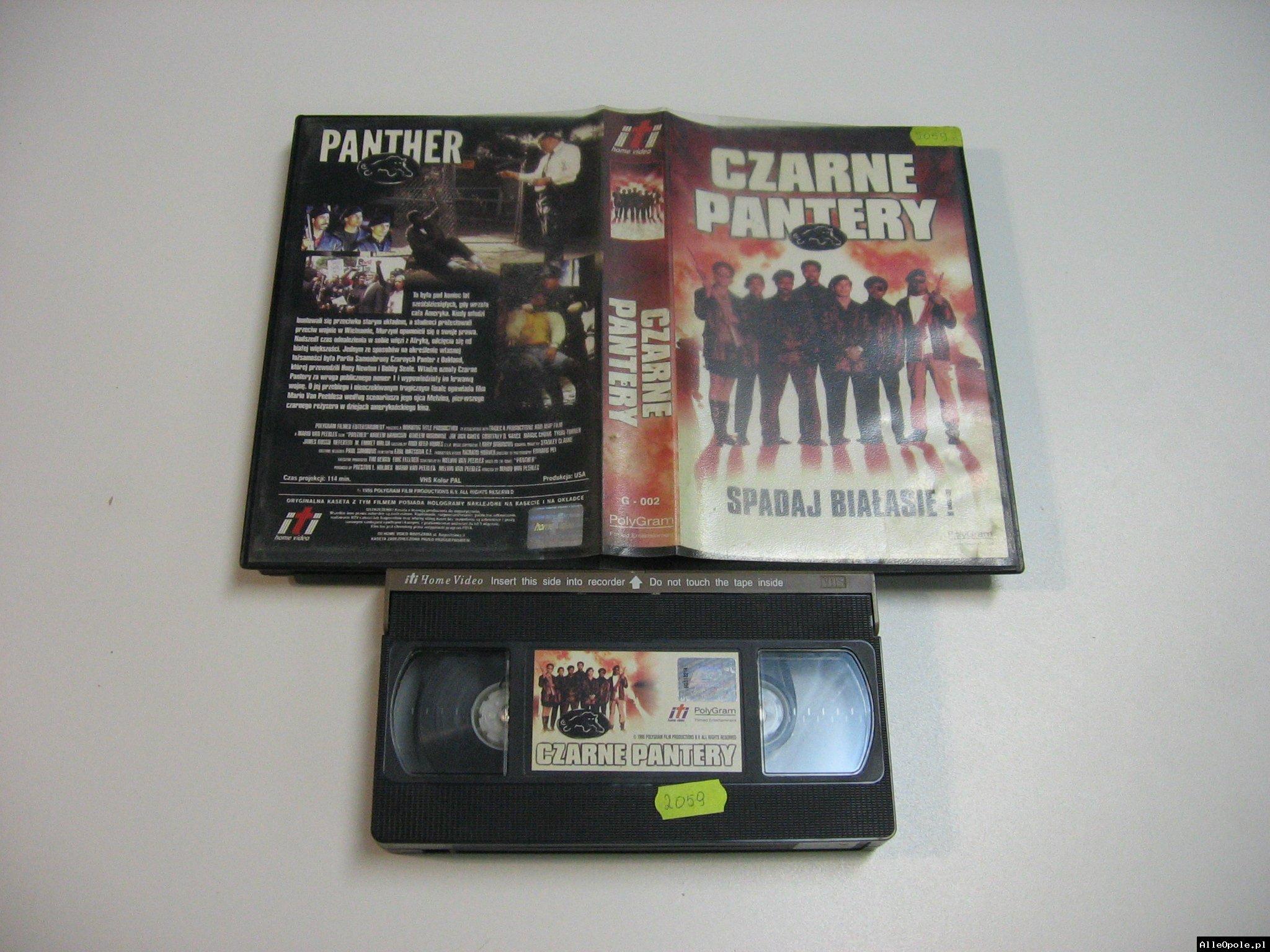 CZARNE PANTERY - VHS Kaseta Video - Opole 1812