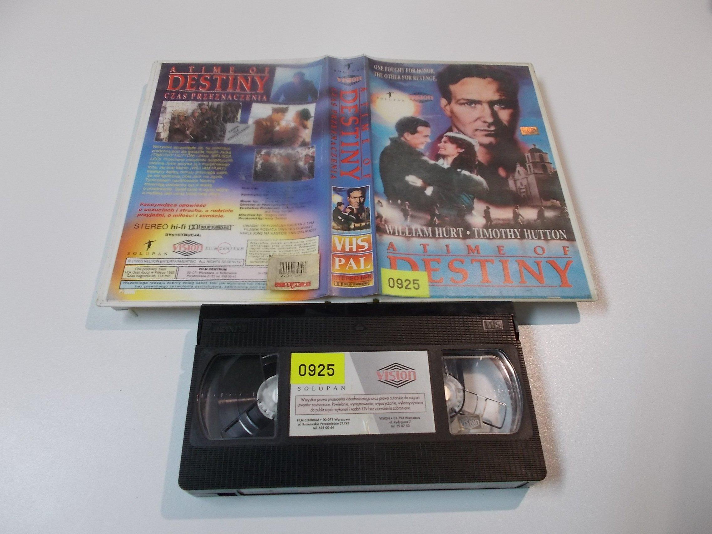 CZAS PRZEZNACZENIA - kaseta Video VHS - 1446 Sklep