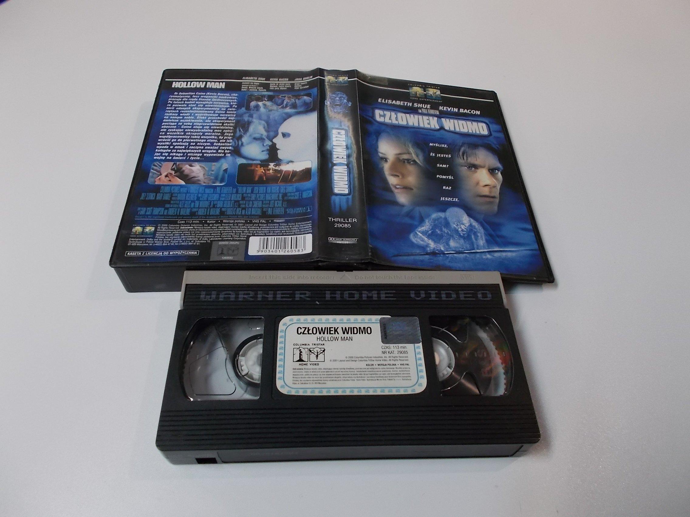 CZŁOWIEK WIDMO - VHS Kaseta Video - Opole 1628
