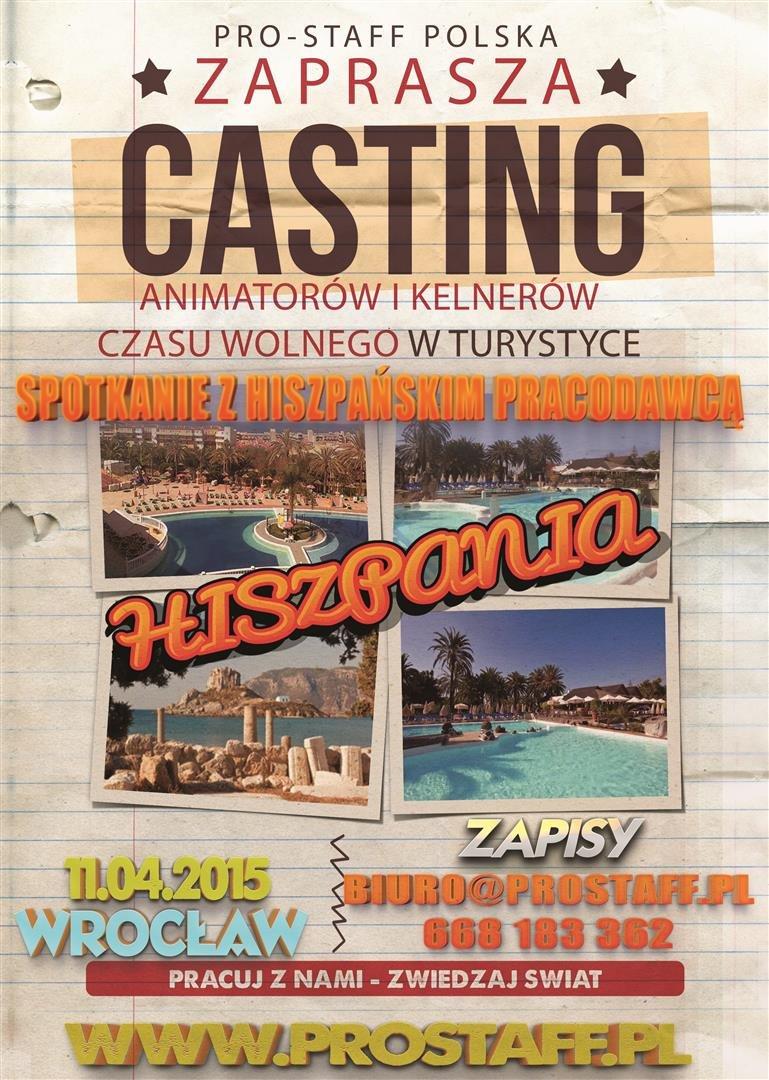 Casting Pro-Staff na Animatora turystycznego w Hiszpanii 2015