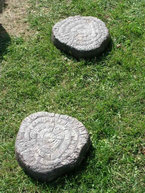 Chodnik płytki betonowe imitacja drzewa