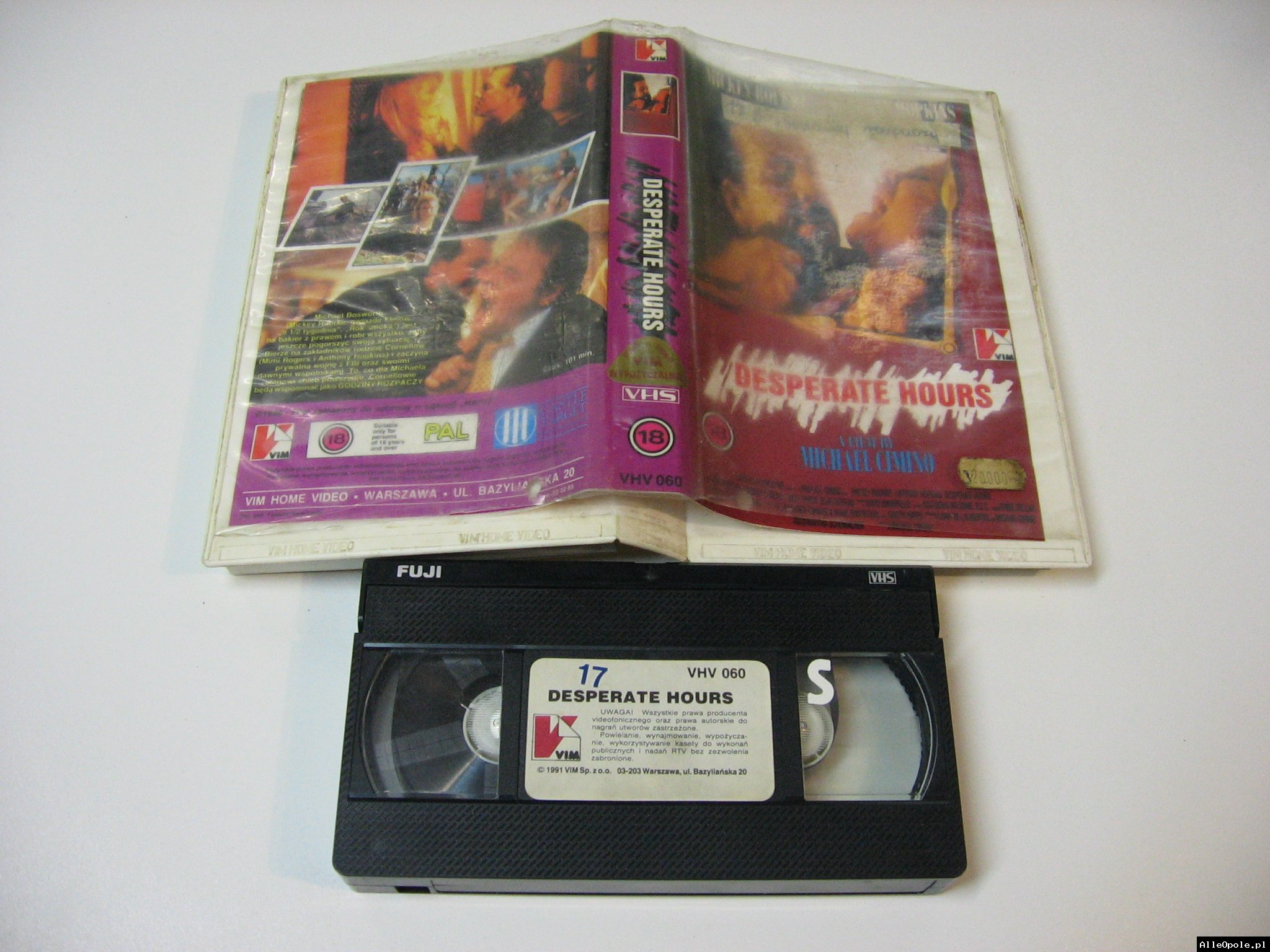 DESPERATE HOURS - VHS Kaseta Video - Opole 1751