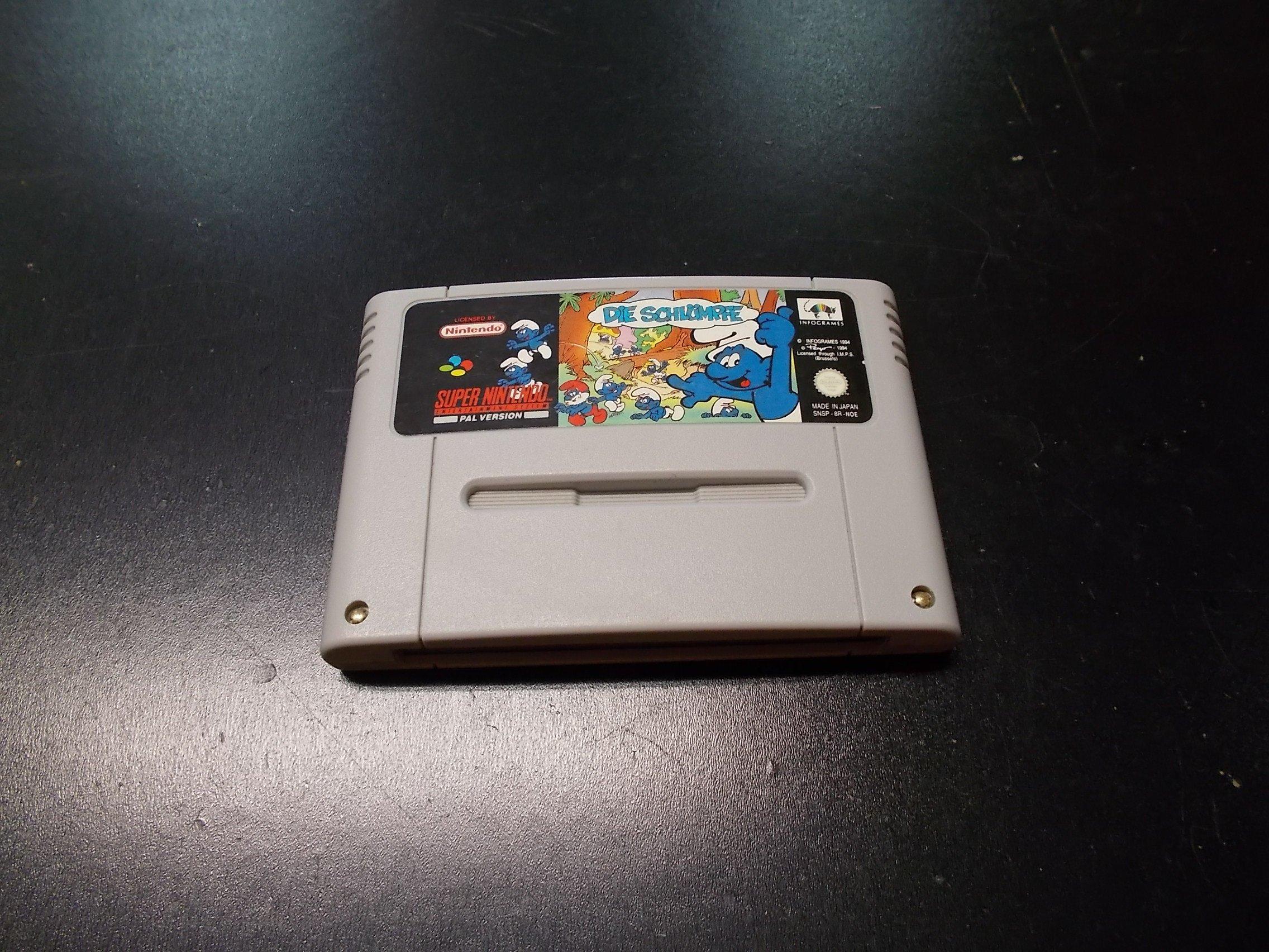 DIE SCHLUMPFE SMERFY - GRA Nintendo SNES Opole 0218