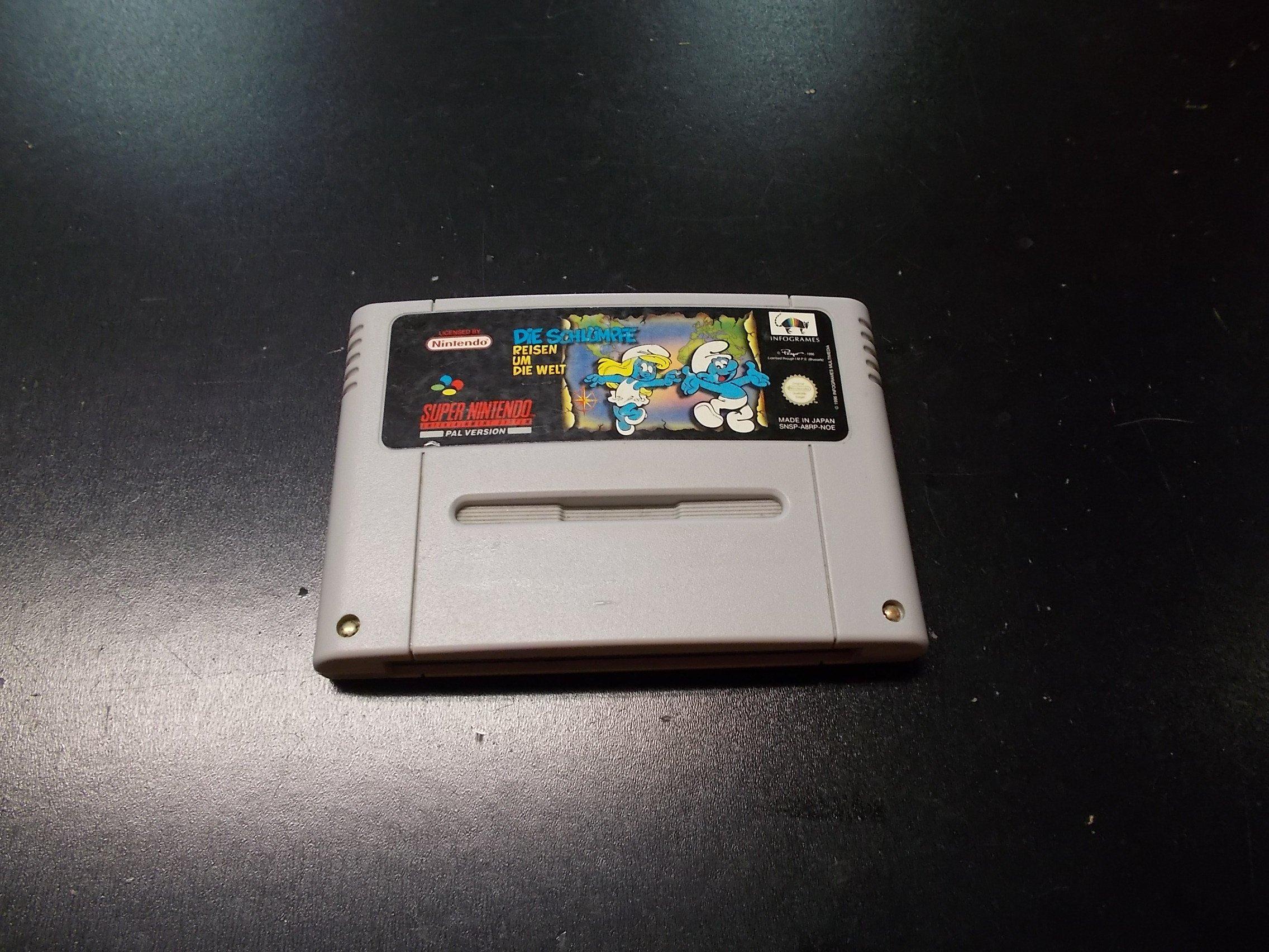 DIE SCHLUMPFE (SMERFY) - GRA Nintendo SNES Opole 0228