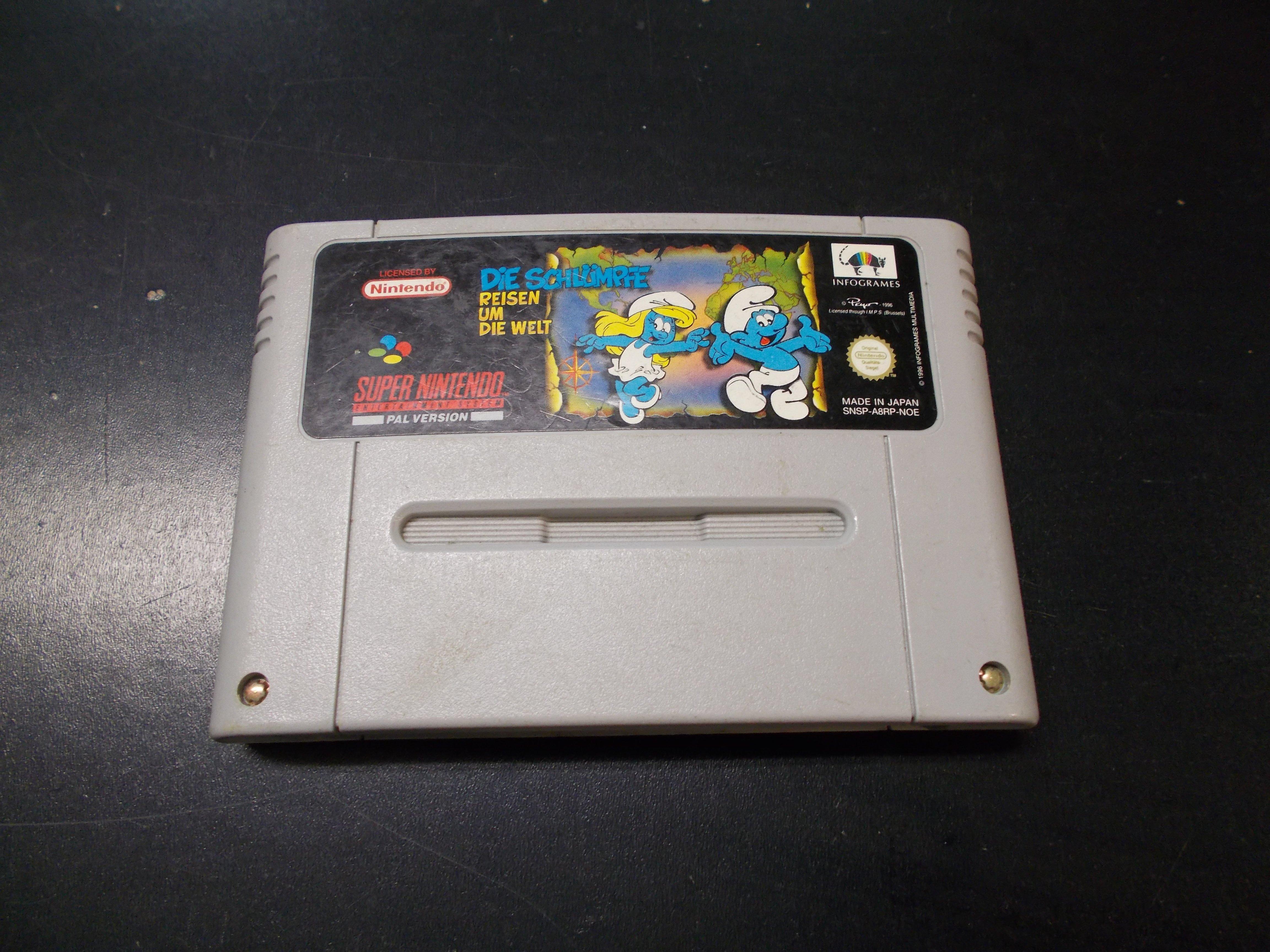 DIE SCHLUMPFE (smerfy) - GRA Nintendo SNES Opole 0155