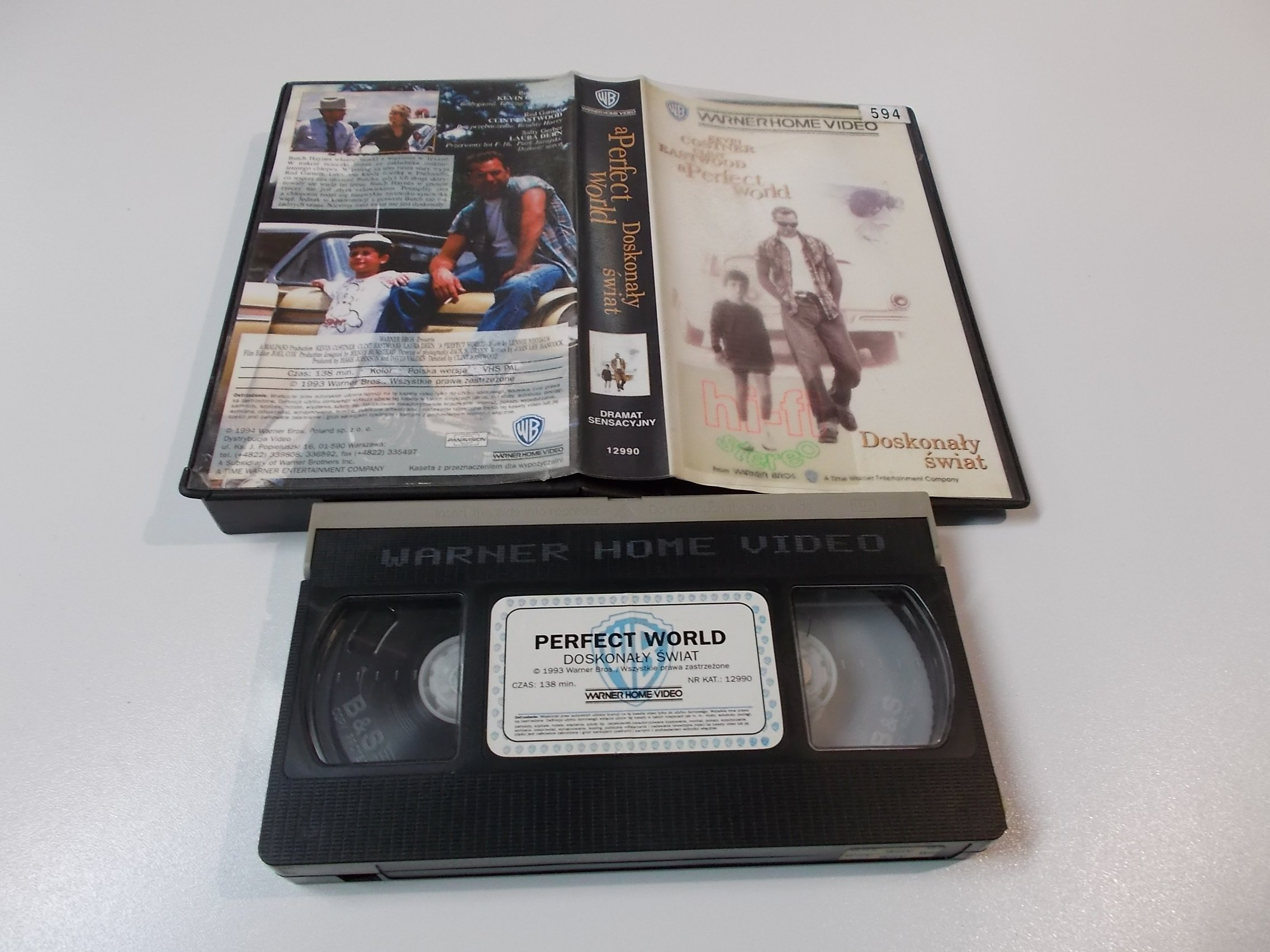 DOSKONAŁY ŚWIAT - KEVIN COSTNER - Kaseta Video VHS - Opole 1513