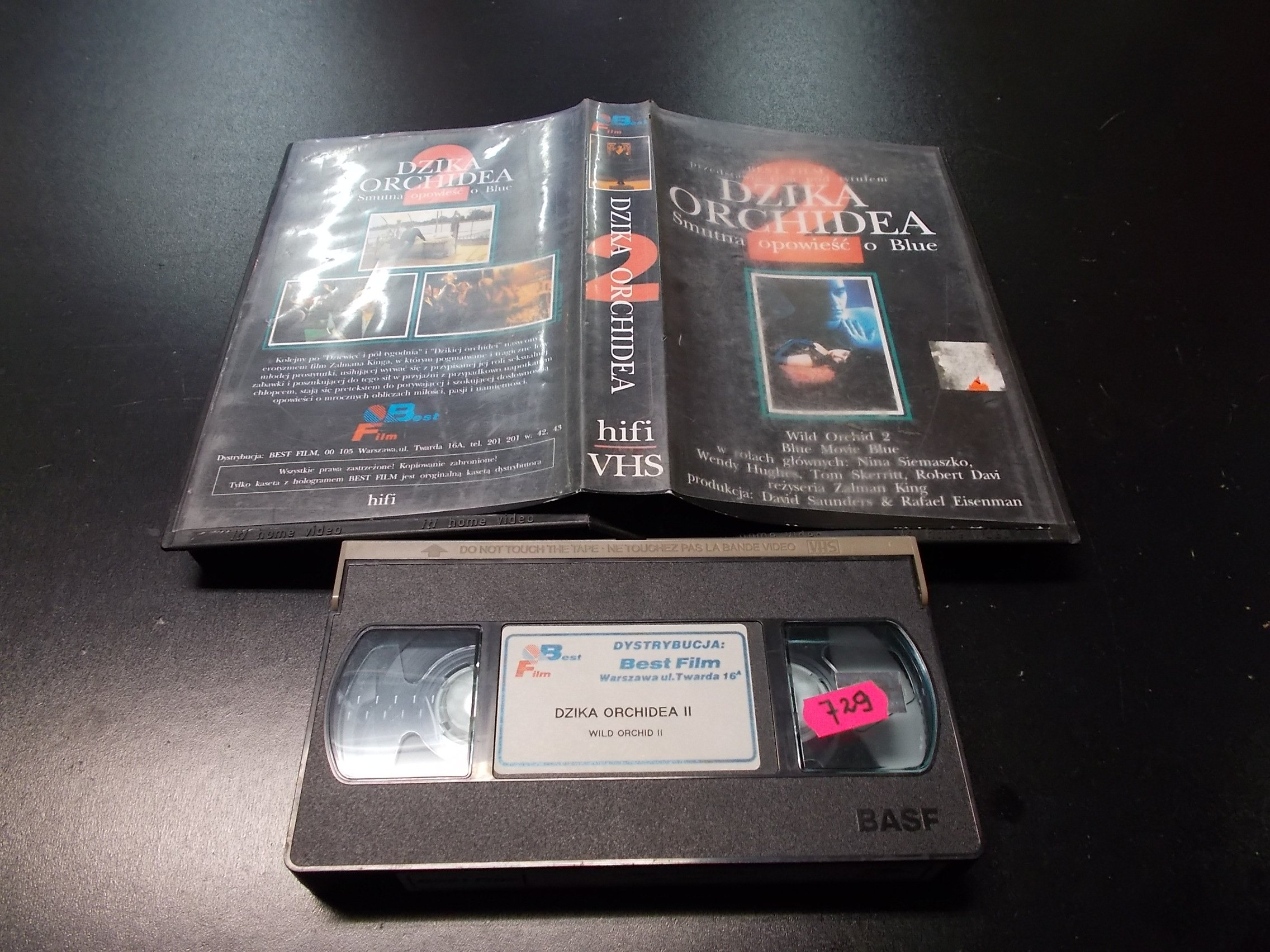 DZIKA ORCHIDEA -  kaseta VHS - 1165 Opole - AlleOpole.pl