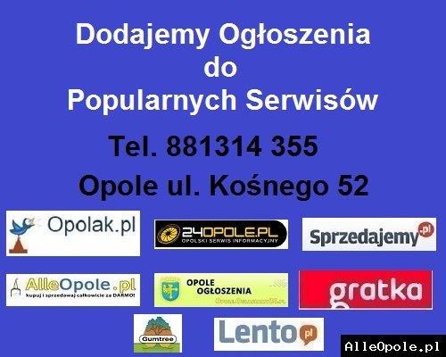 Dodajemy Ogłoszenia w Popularnych Serwisach Ogłoszeniowych * Opole