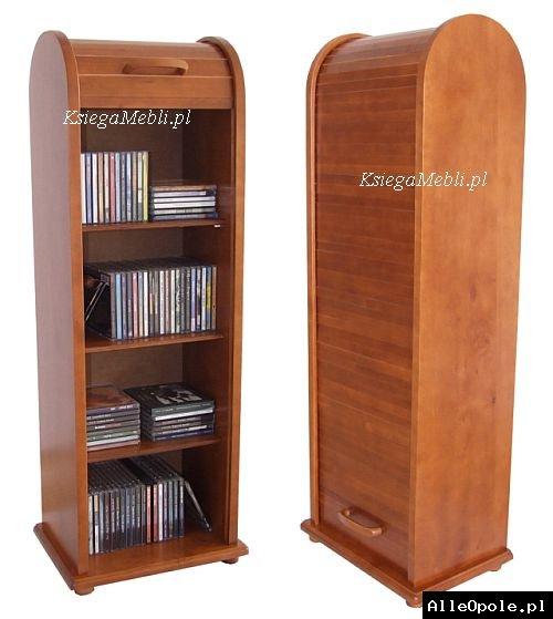 Drewniany regał szafka na płyty CD DVD
