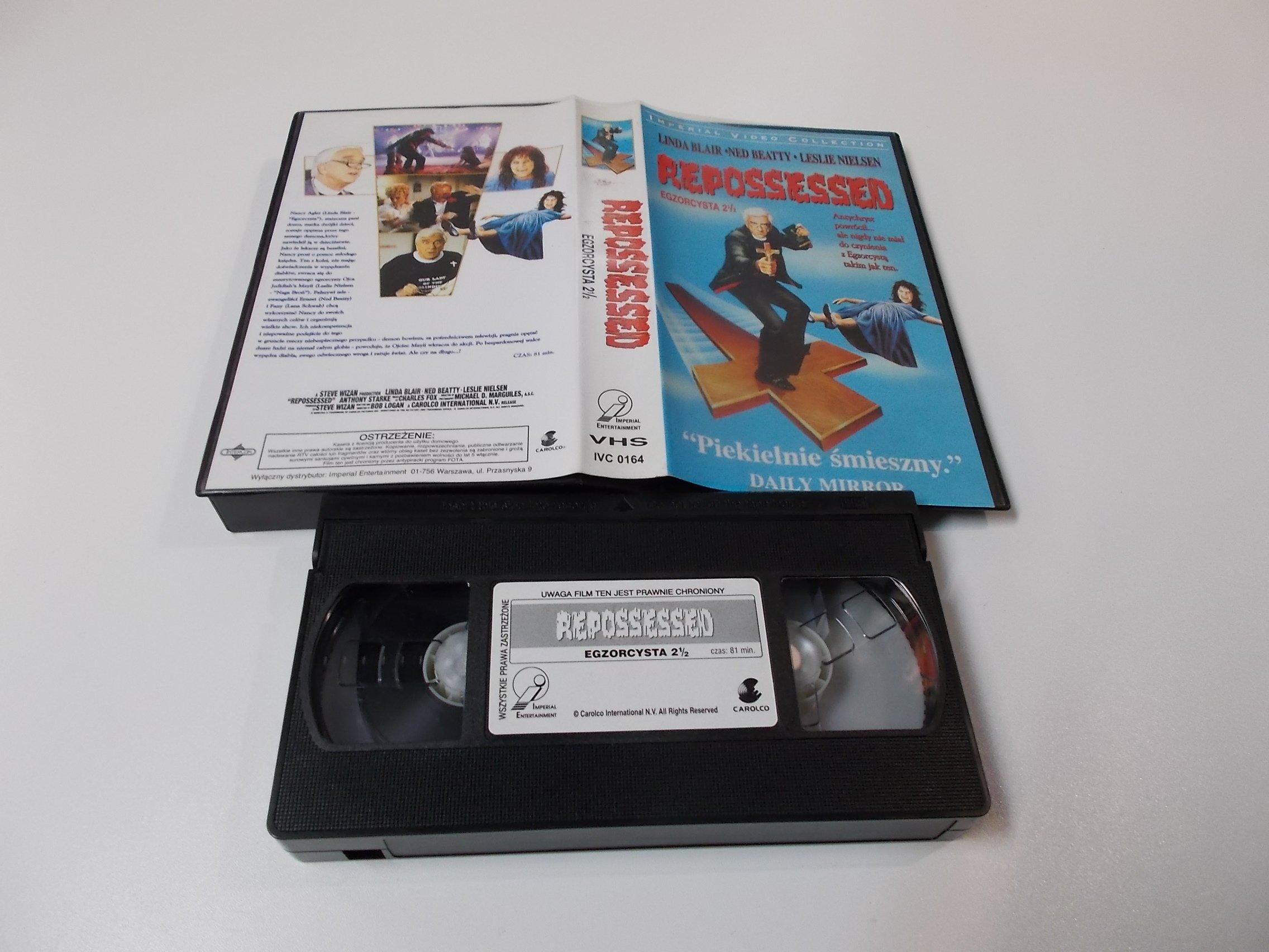 EGZORCYSTA 2 1/2 - Linda Blair, Leslie Nielsen - VHS Kaseta Video - Opole 1637