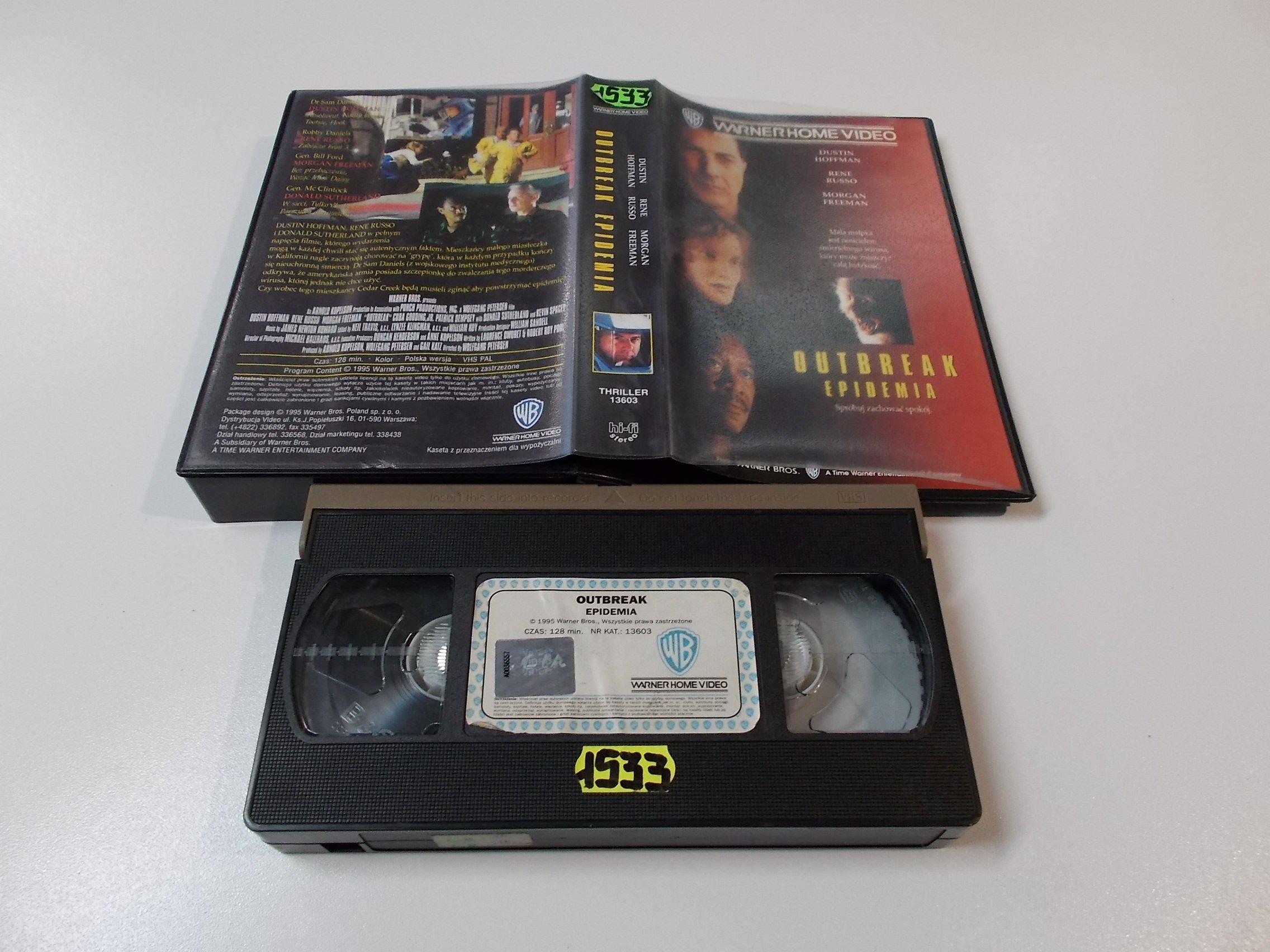 EPIDEMIA - DASTIN HOFFMAN - Kaseta Video VHS - Opole 1516