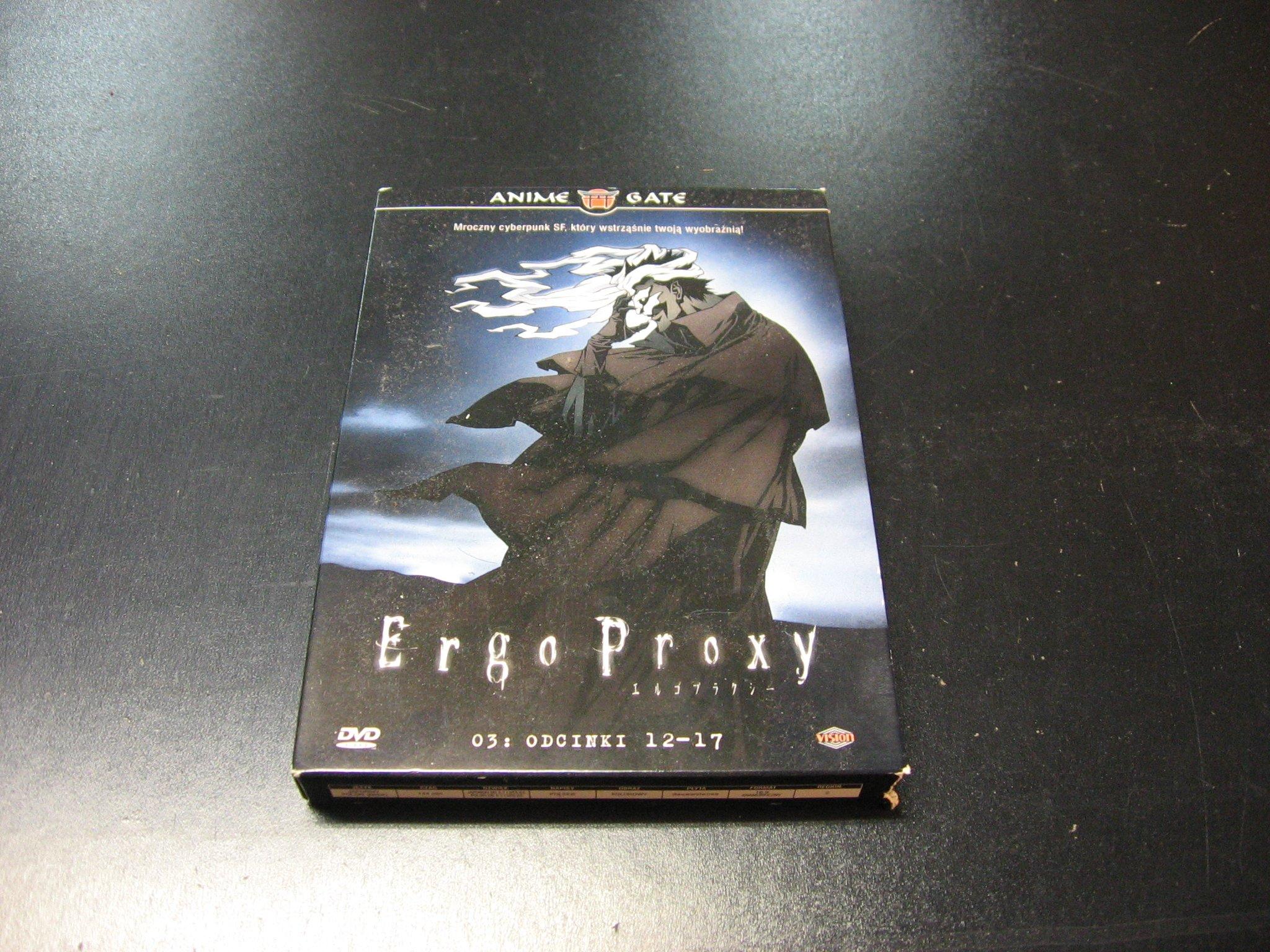 ERGO PROXY odcinki 12-17 polski LEKTOR DVD Sklep Opole
