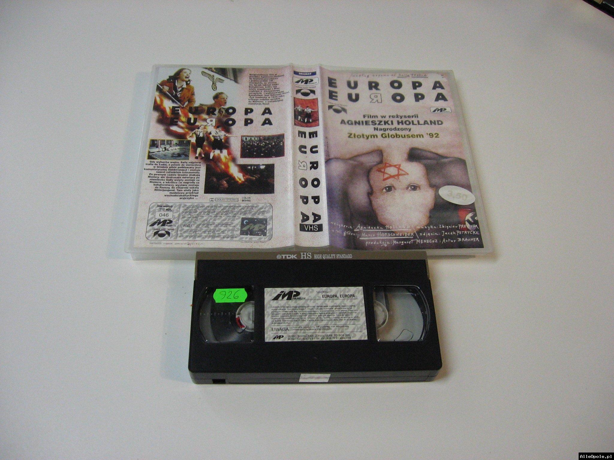 EUROPA EUROPA - VHS Kaseta Video - Opole 1762