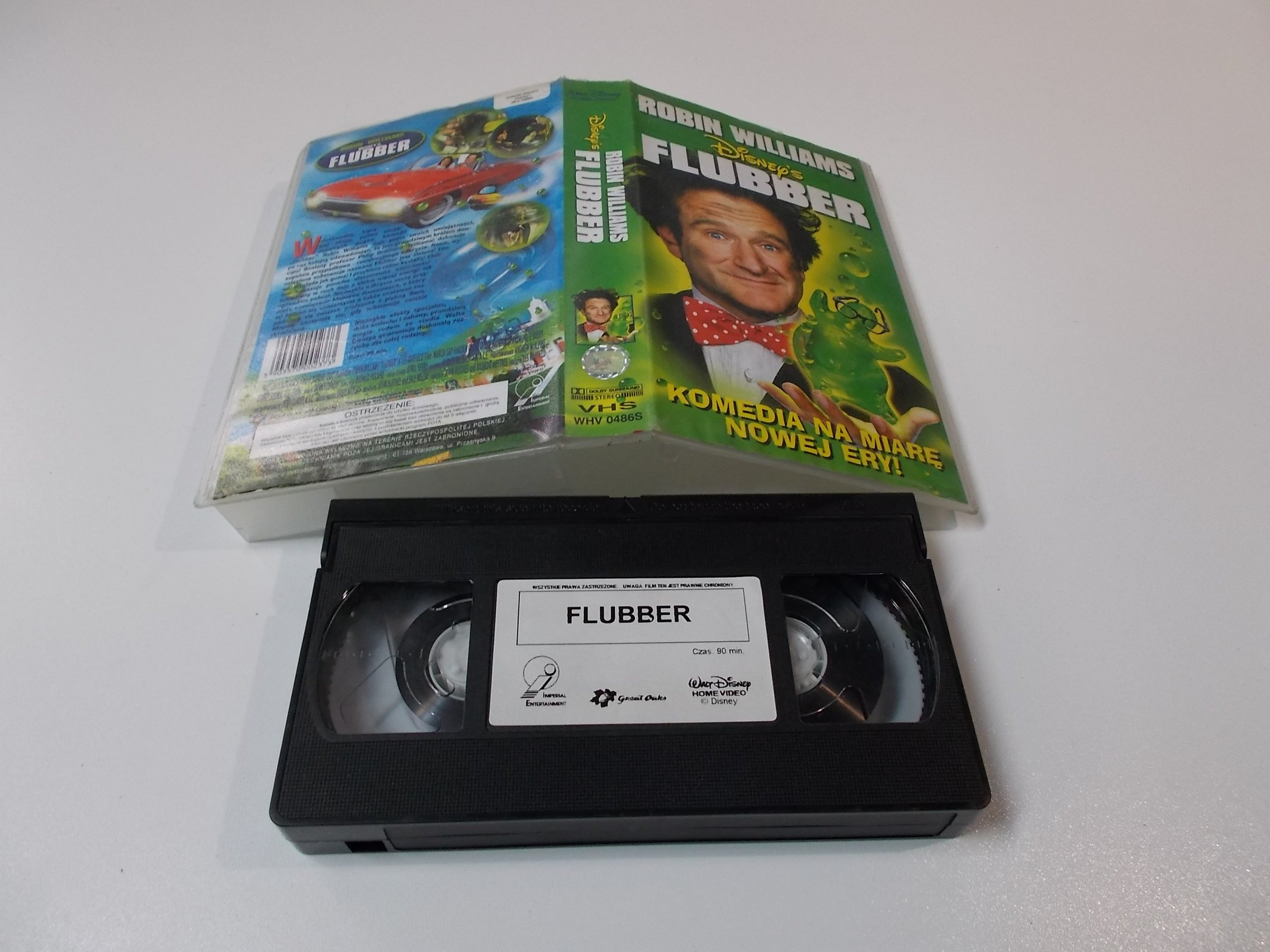 FLUBBER - ROBIN WILLIAMS - VHS Kaseta Video - Opole 1616