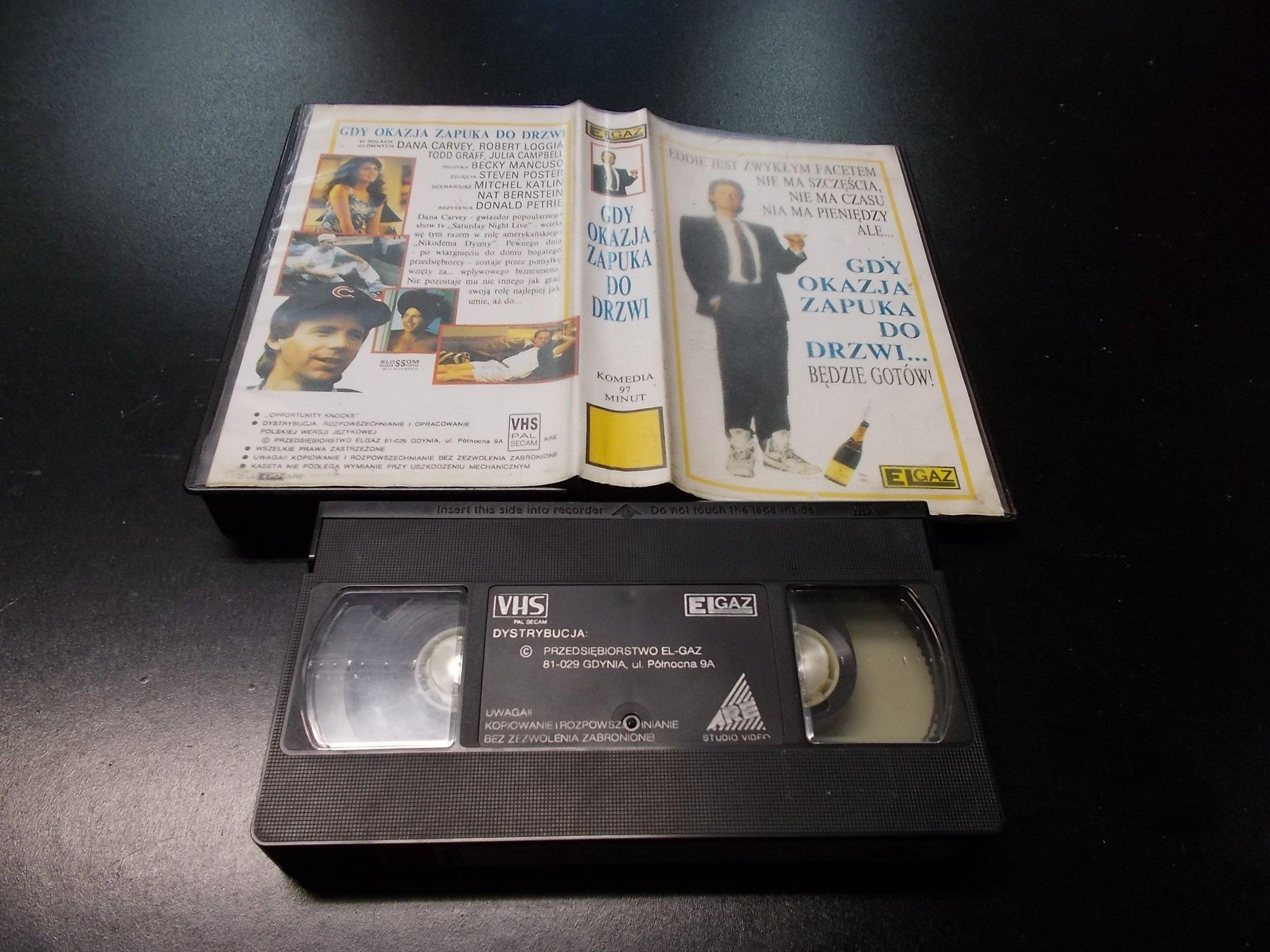 GDY OKAZJA ZAPUKA DO DRZWI -  kaseta VHS - 1243 Opole - AlleOpole.pl