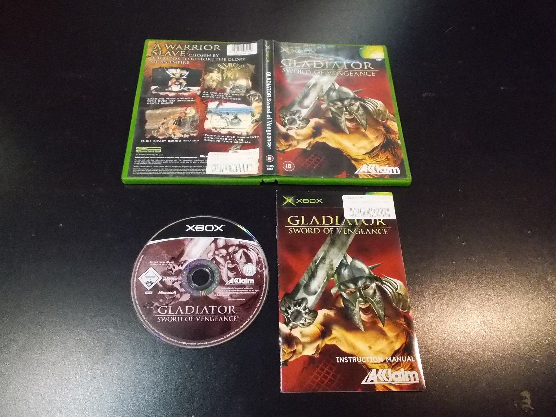 GLADIATOR SWORD OF VENGEANCE - GRA Xbox Classic
