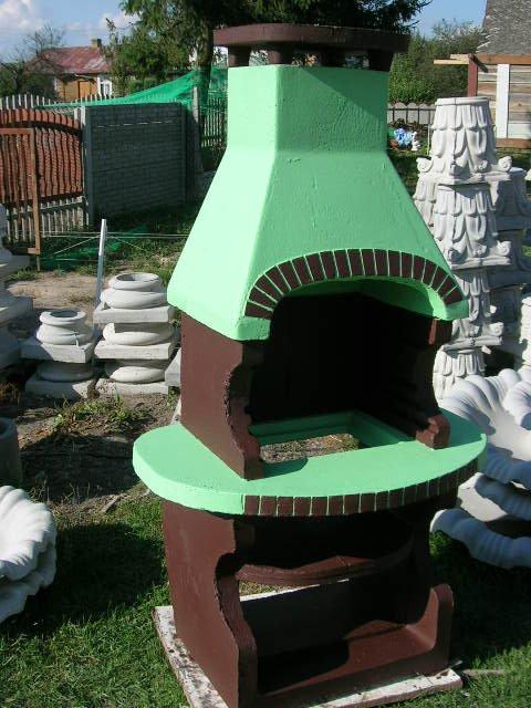 GRILL OGRODOWY OKRĄGŁY kominek betonowy
