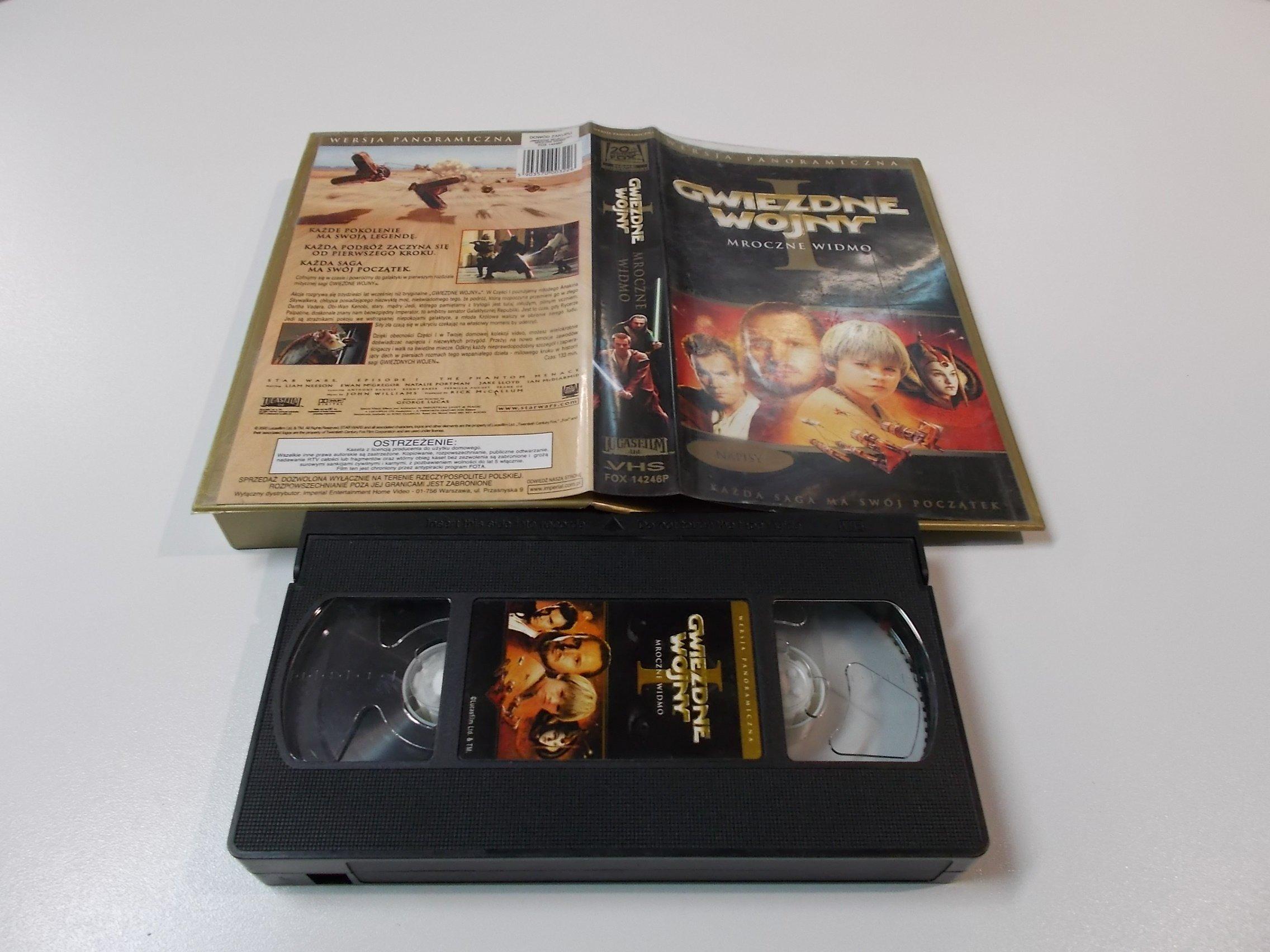 GWIEZDNE WOJNY MROCZNE WIDMO - Kaseta Video VHS - Opole 1494