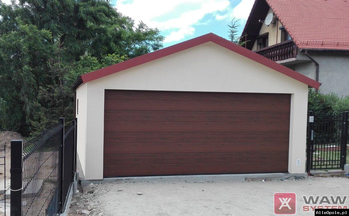 Garaże jednospadowe, garaż dwuspadowy, szeregowy