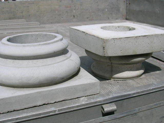 Głowice i podstawy doryckie do kolumn tub tekturowych