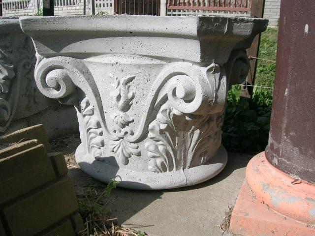 Głowice jońskie i podstawy - kolumna filar fi 30 wykończenie