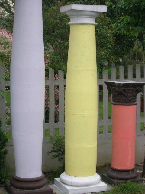 Głowice korynckie i podstawy - kolumna filar fi 35