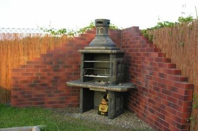 Grill RZEŹBIONY grillowanie kominek ogrodowy