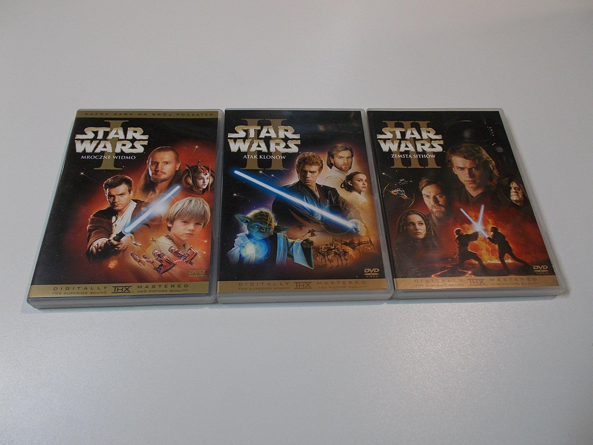 Gwiezdne wojny Star wars trylogia I-II-III części DVD Sklep