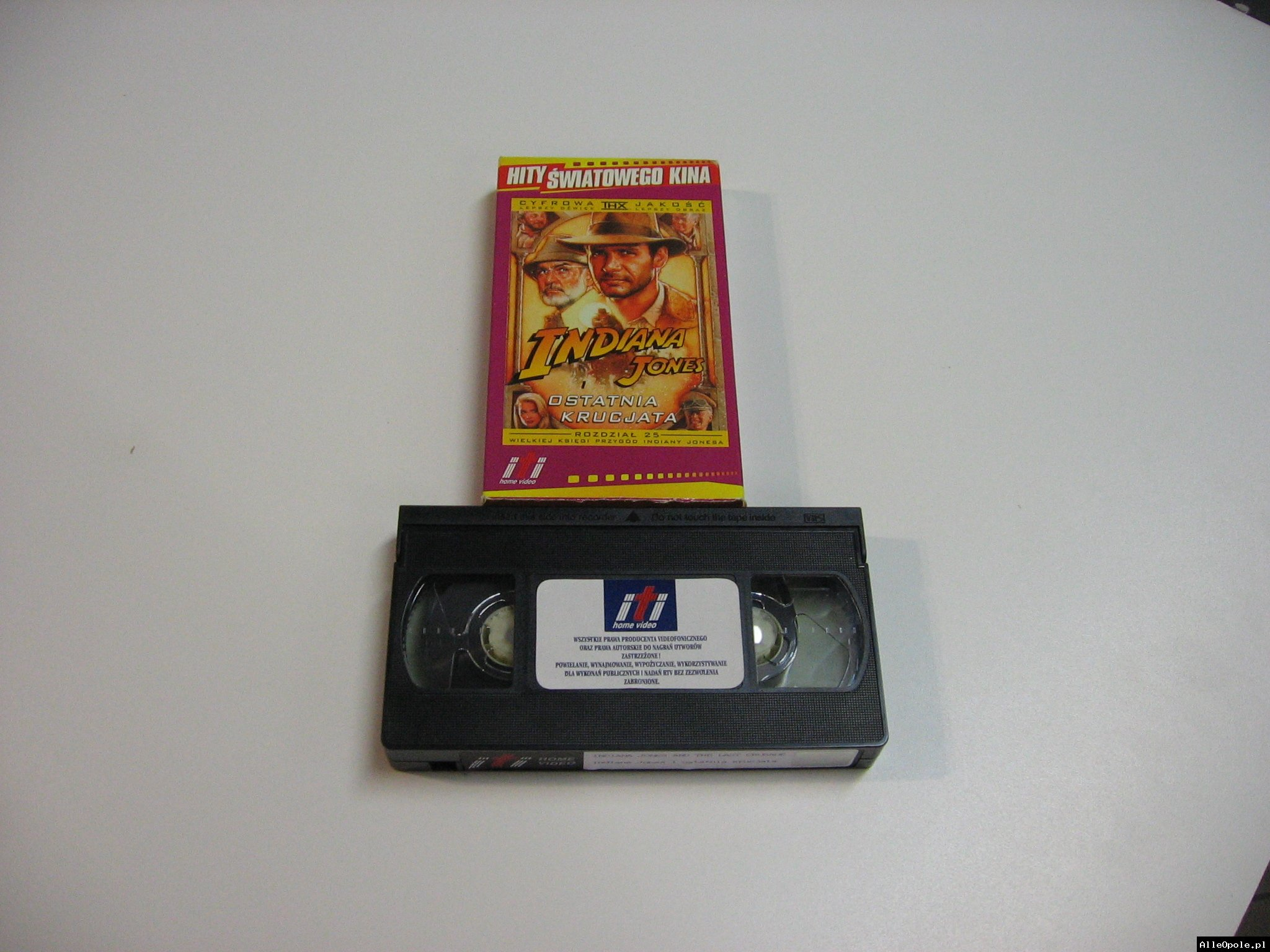INDIANA JONES OSTATNIAKRUCJATA - VHS Kaseta Video - Opole 1795