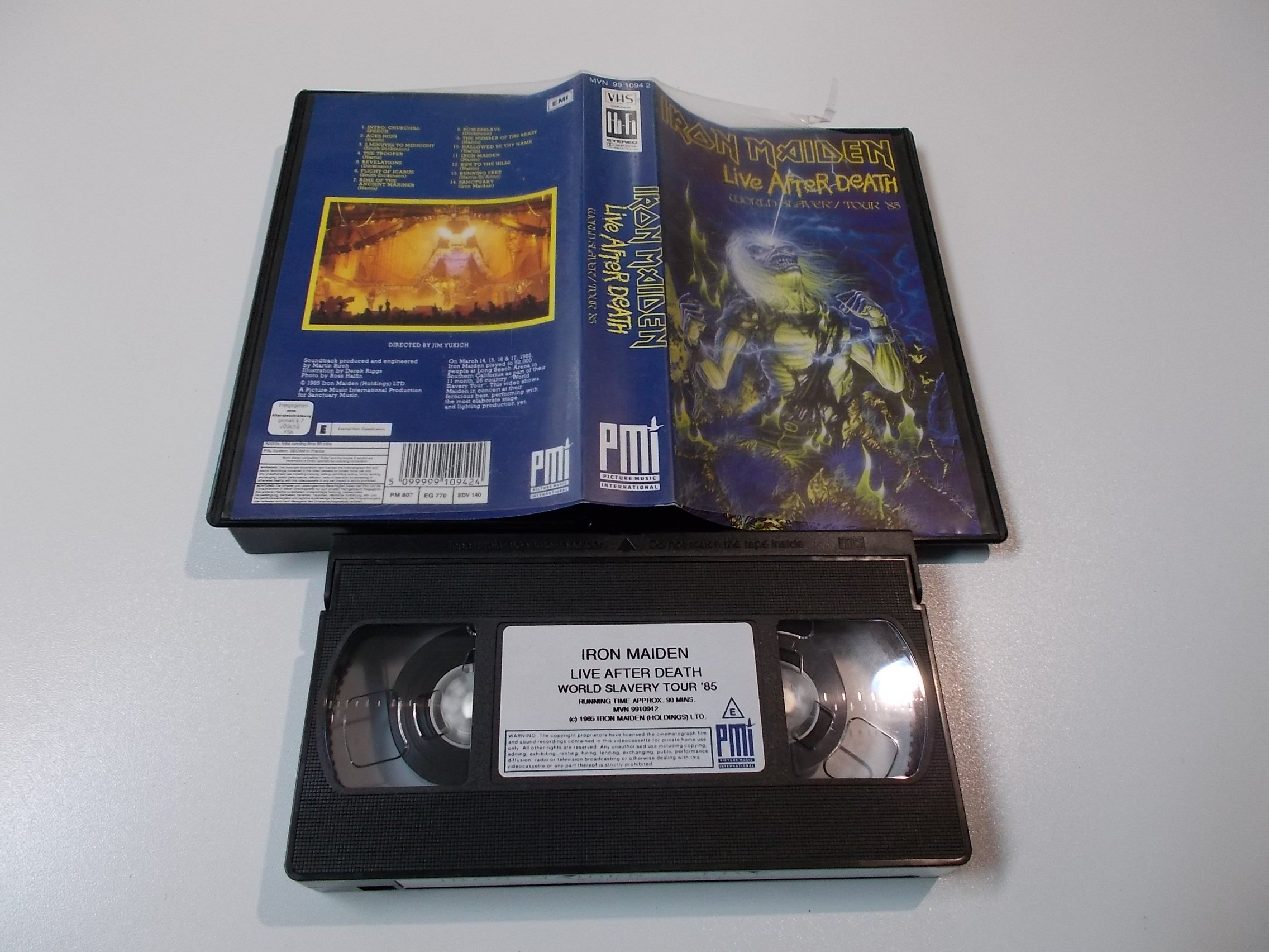 IRON MAIDEN LIVE AFTER DEATH - Kaseta Video VHS - 1486 Opole