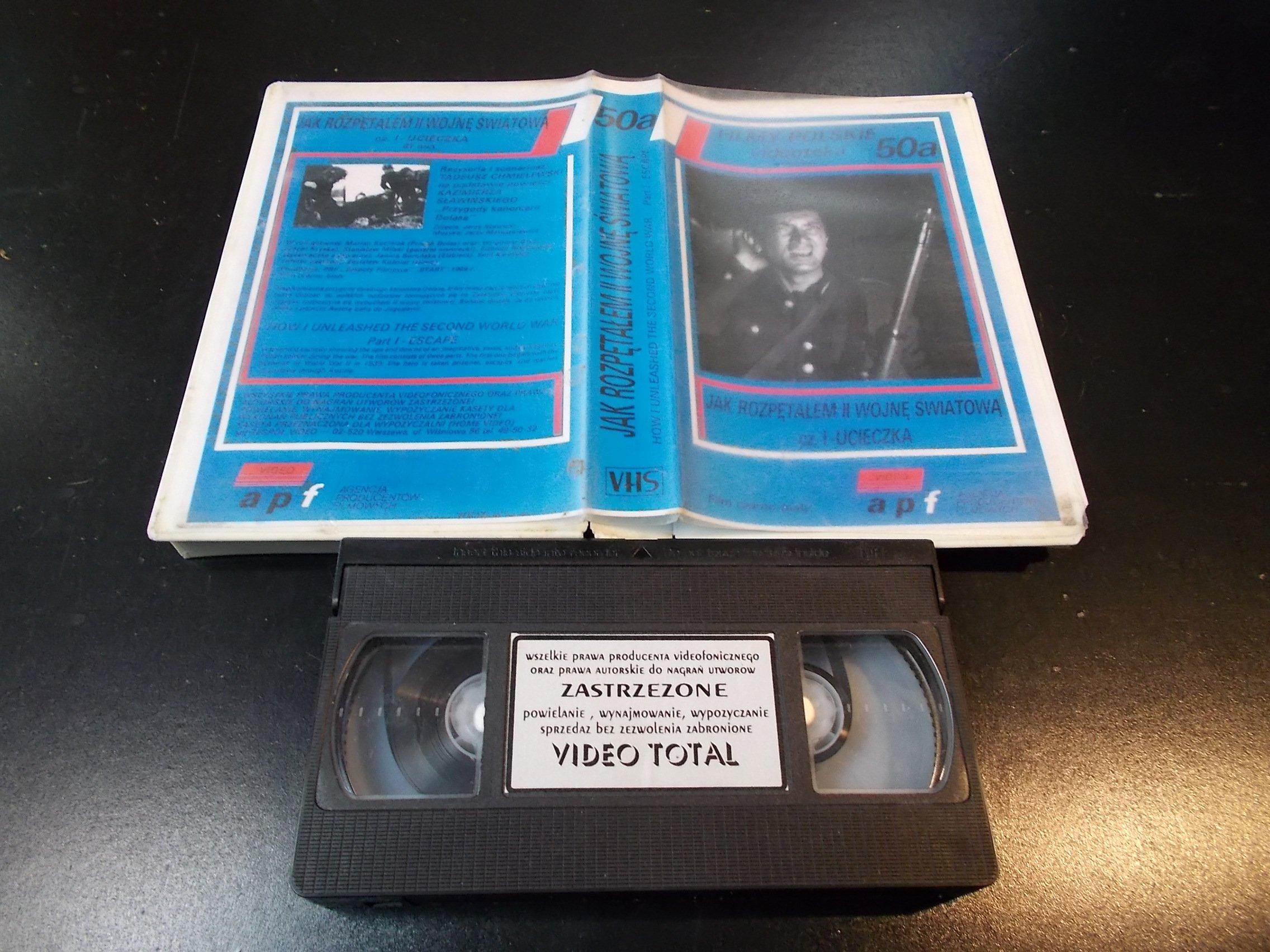 JAK ROZPENTAŁEM 2 WOJNĘ ŚWIATOWĄ cz.1 UCIECZKA - kaseta Video VHS - 1354 Sklep