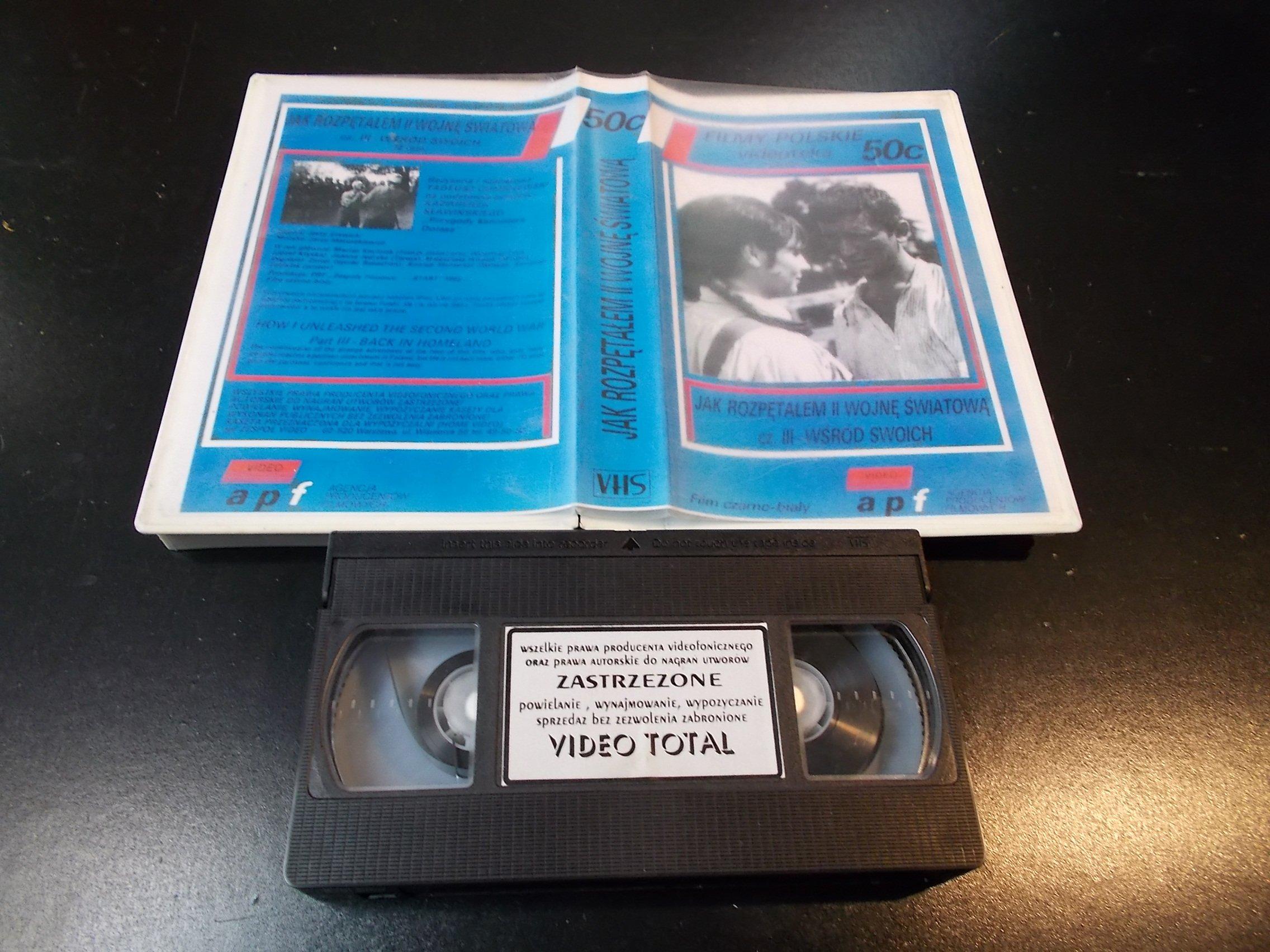 JAK ROZPENTAŁEM 2 WOJNĘ ŚWIATOWĄ cz.3 WŚRÓD SWOICH - kaseta Video VHS - 1356 Sklep