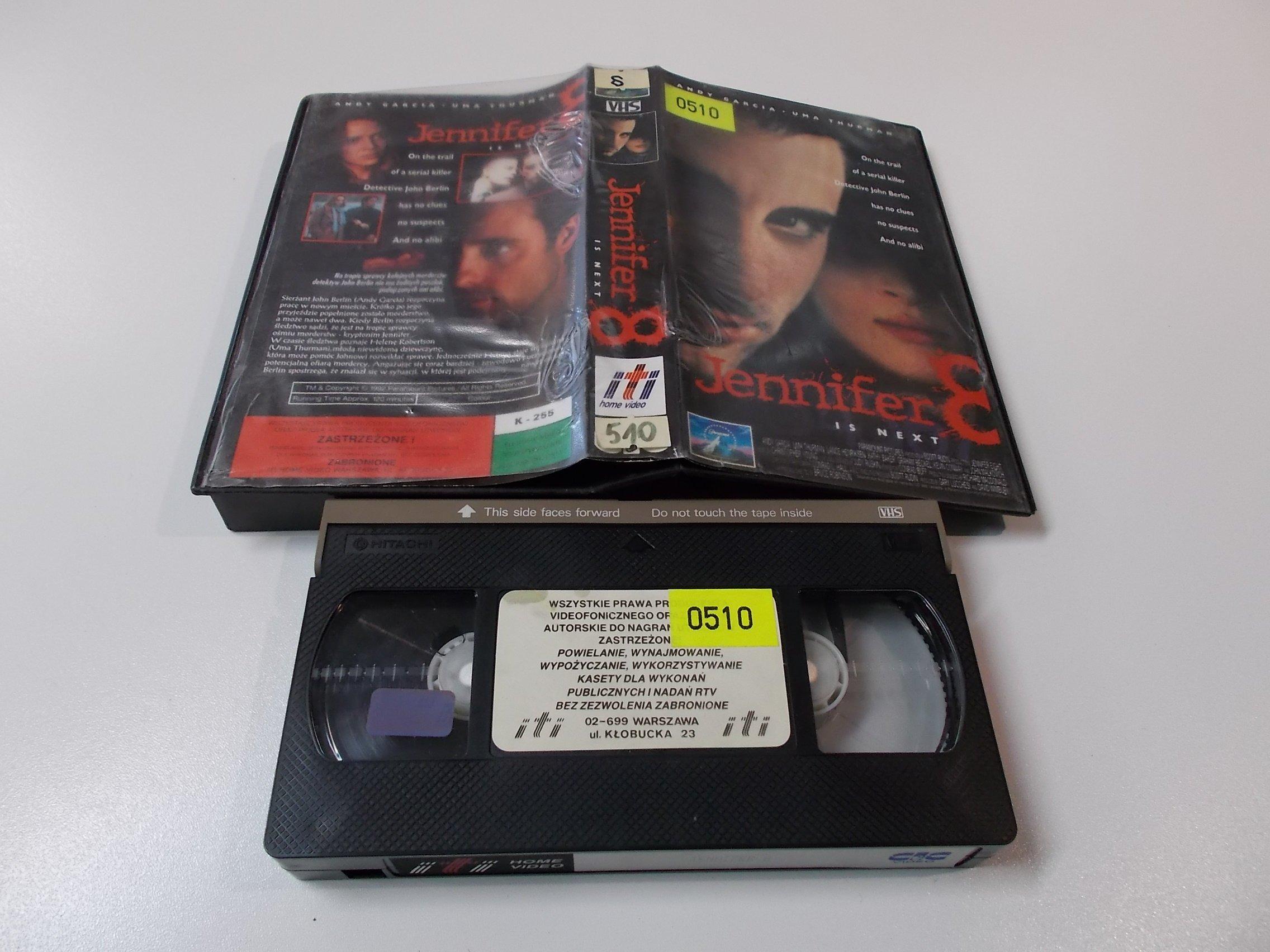JENNIFER 8 - Kaseta Video VHS - Opole 1505