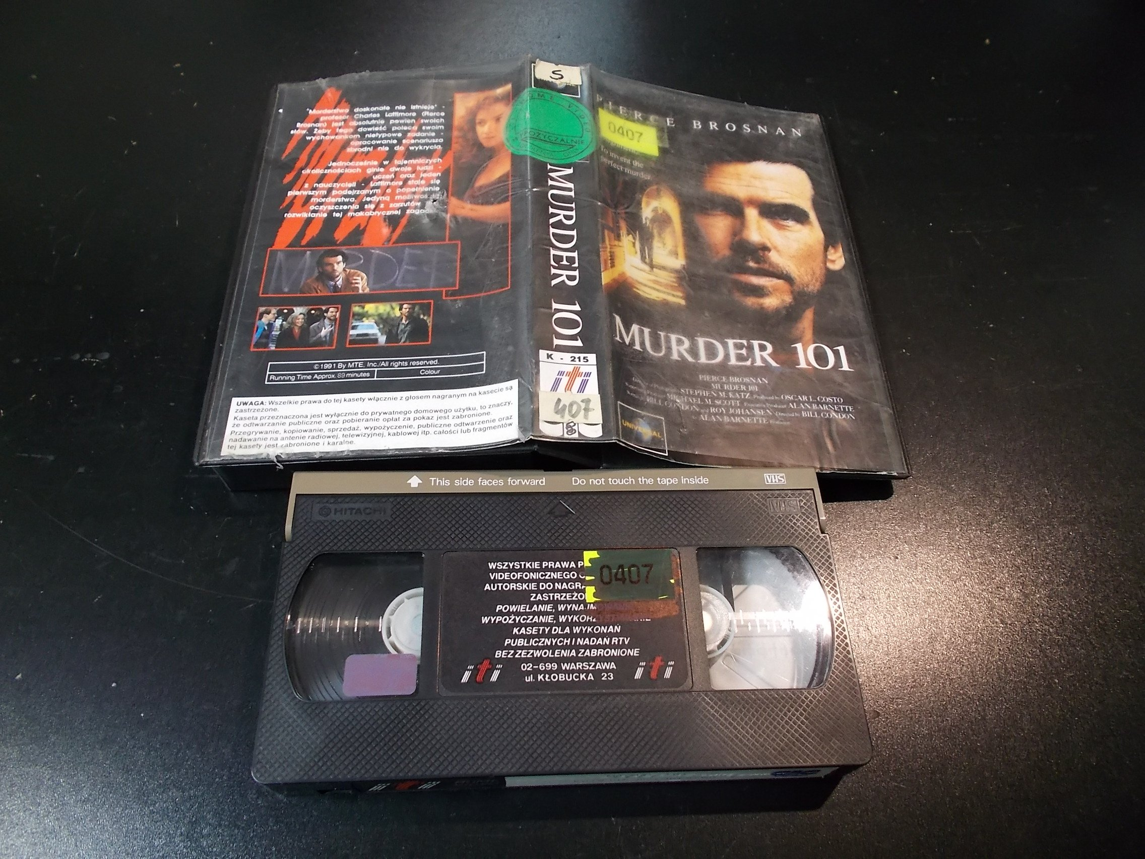 KOLEJNE MORDERSTWO - kaseta Video VHS - 1362 Sklep